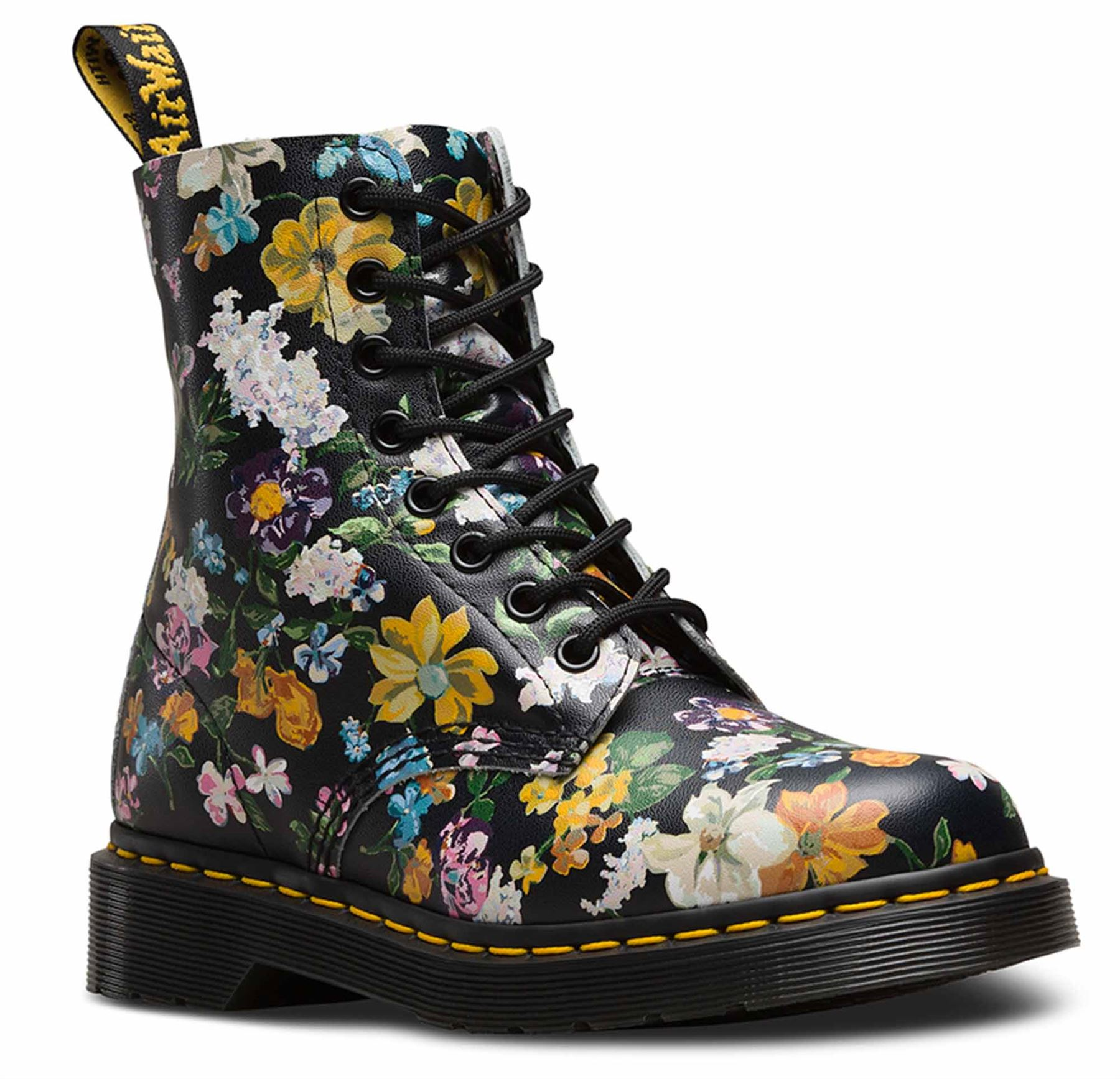 Image is loading Dr-Martens-Ladies-Pascal-Darcy-Floral-Black-Leather- d62996a49