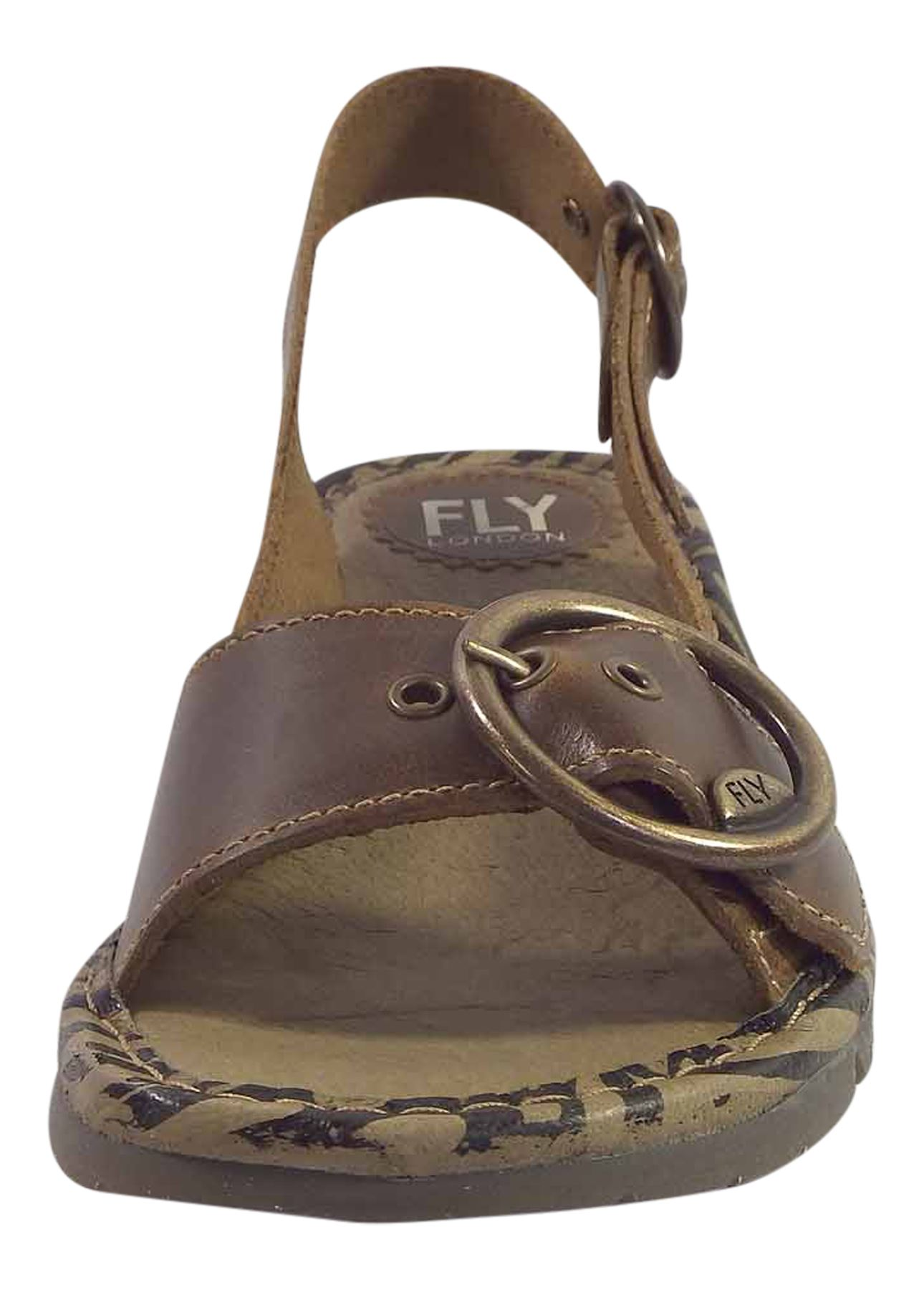 Fly-London-Ladies-TRAM723FLY-Lo-Wedge-Slingback-Summer-Sandals-Leather thumbnail 28