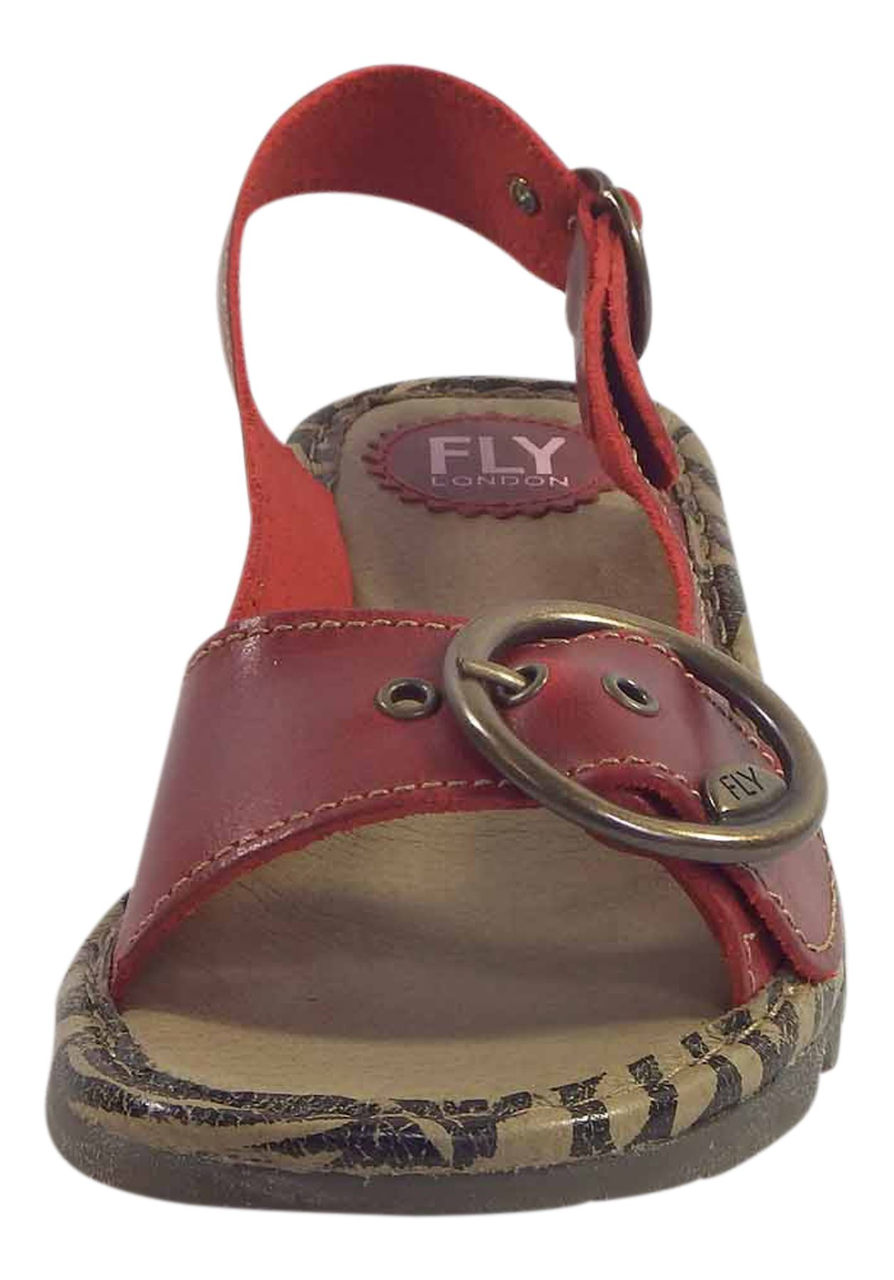 Fly-London-Ladies-TRAM723FLY-Lo-Wedge-Slingback-Summer-Sandals-Leather thumbnail 61