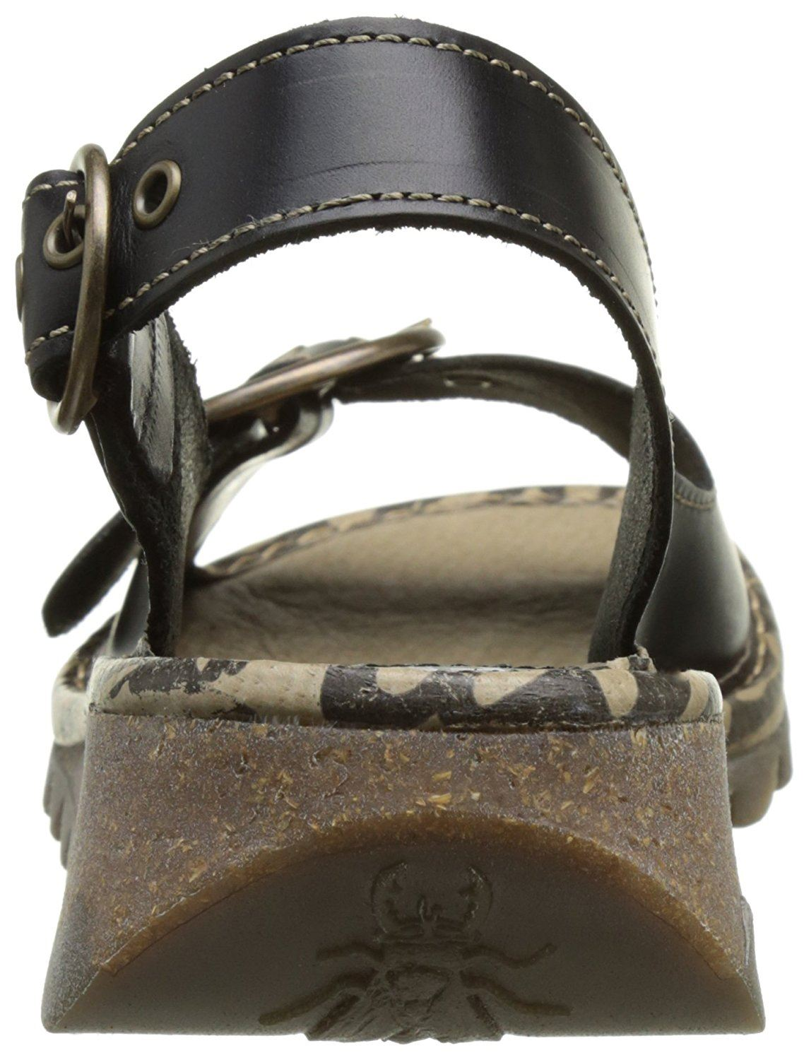 Fly-London-Ladies-TRAM723FLY-Lo-Wedge-Slingback-Summer-Sandals-Leather thumbnail 13