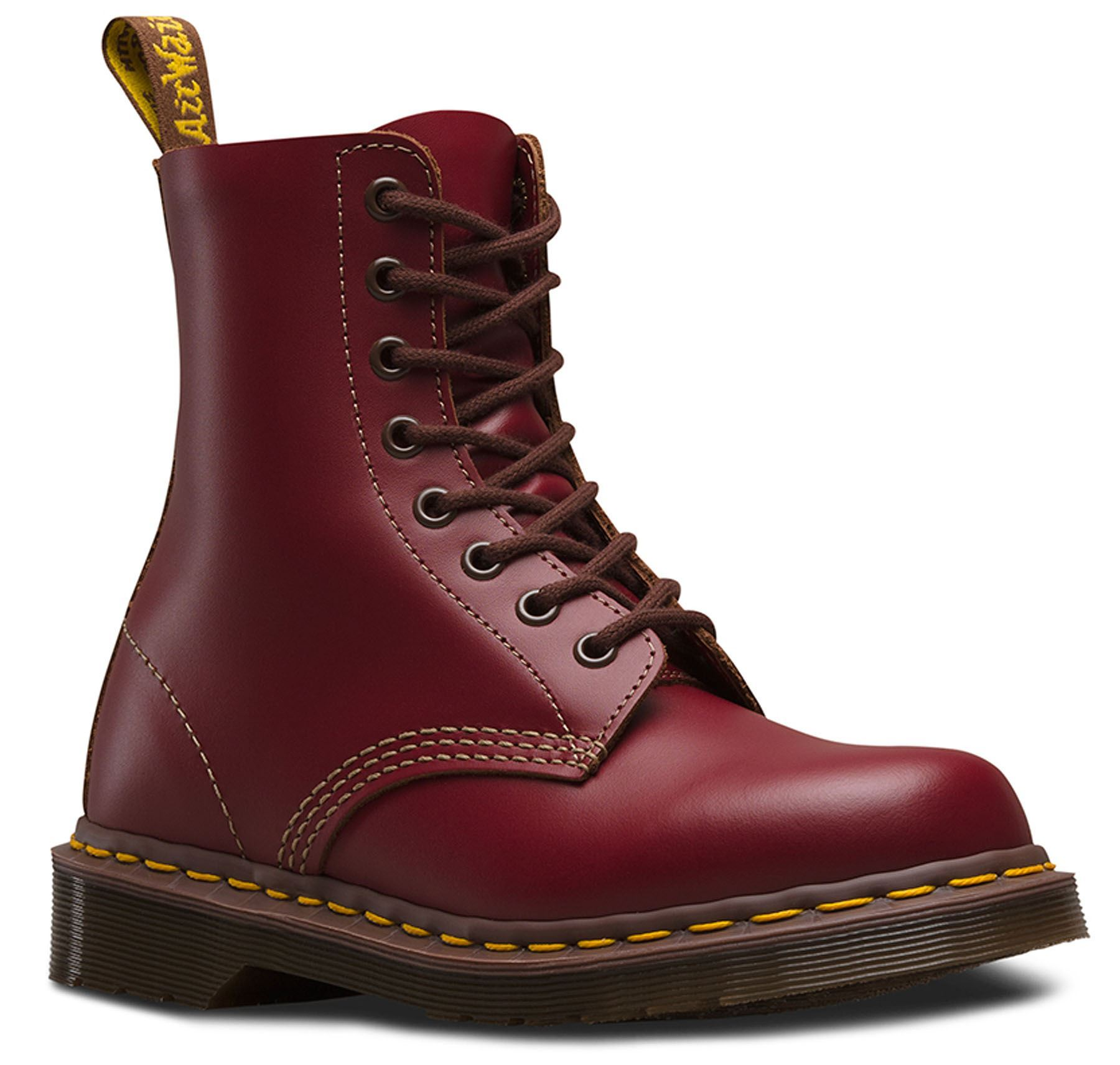 Dr Martens 1460 Made Made Made In England Vintage Collection 8 Eye Leather Ankle Boots 9509b1