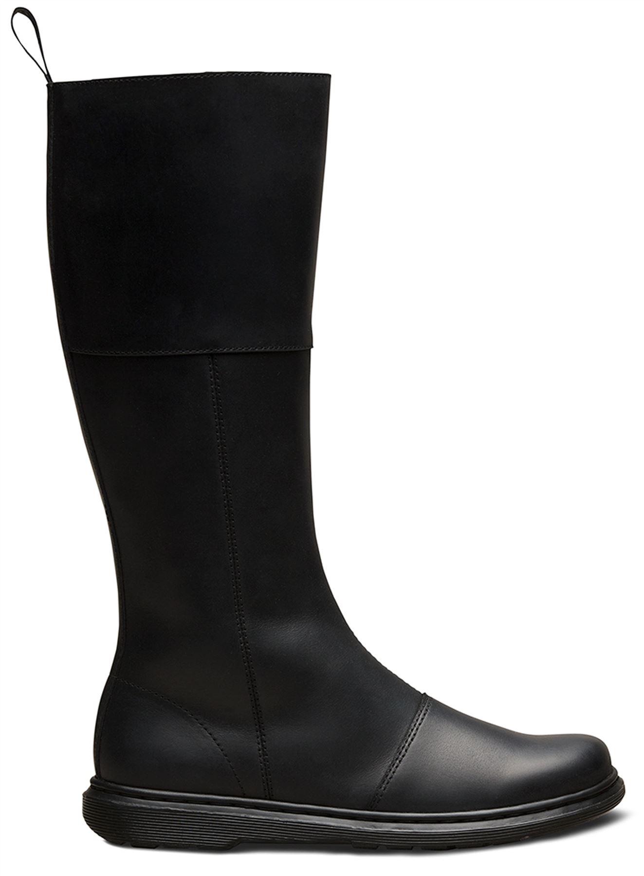 1cf8470f8776 Dr Martens Ladies Lahiri Black Illusion Premium Smooth Leather Tall ...