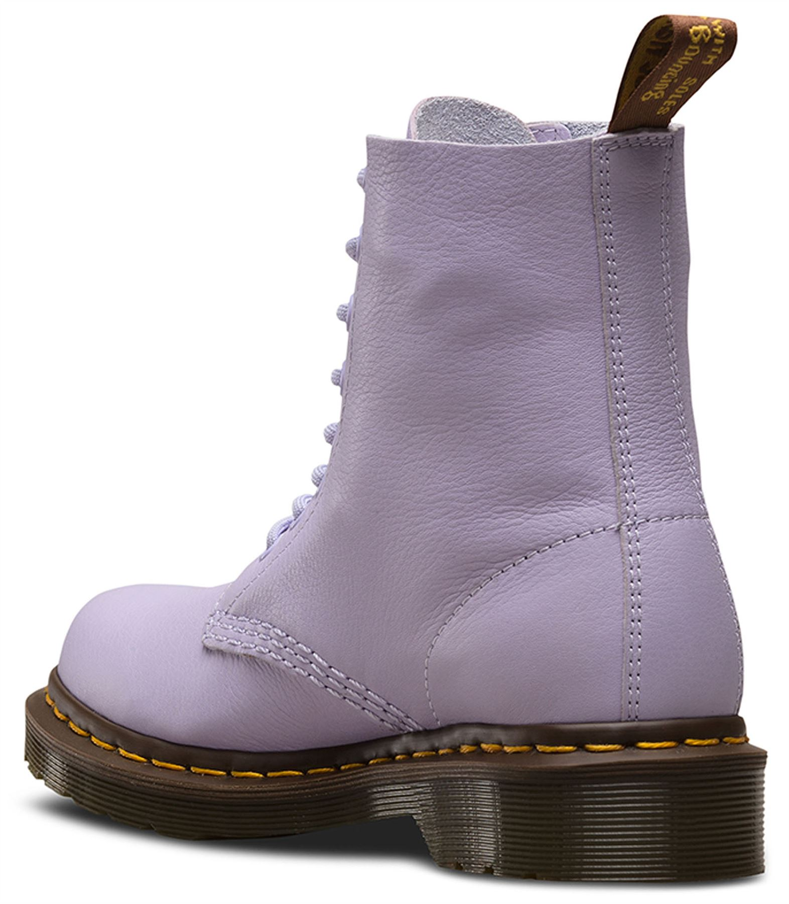Dr Martens Pascal 1460 Purple Heather Virginia Virginia Virginia Soft Nappa Leder Stiefel 5624a7