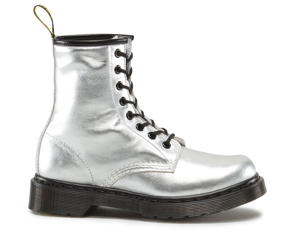 Dr Martens Ladies 1460 Soft Nappa Leather Leather Leather Metallic Boots 2f38b0