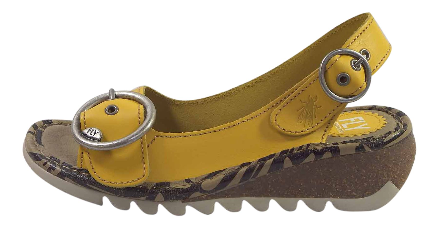 Fly-London-Ladies-TRAM723FLY-Lo-Wedge-Slingback-Summer-Sandals-Leather thumbnail 44