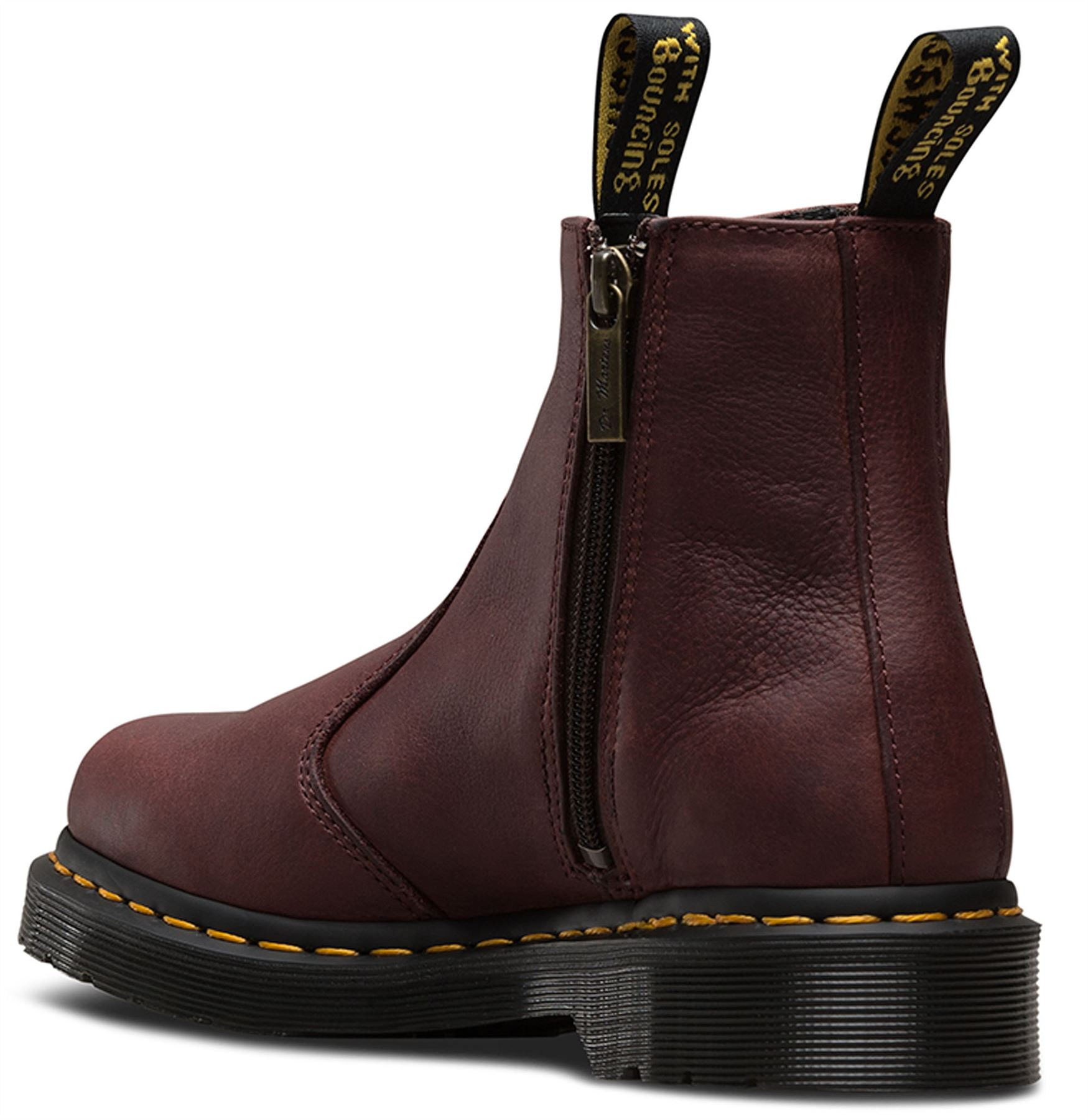 Dr-Martens-Ladies-2976-With-Zips-Chelsea-Leather-Dealer-Ankle-Boots