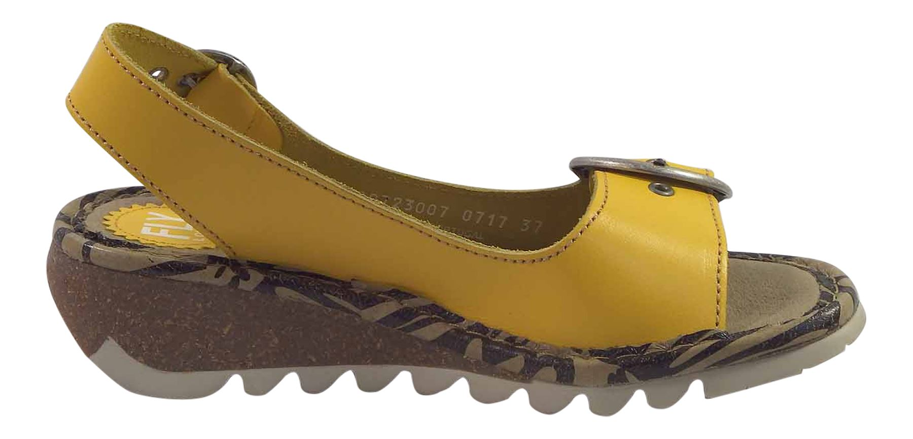 Fly-London-Ladies-TRAM723FLY-Lo-Wedge-Slingback-Summer-Sandals-Leather thumbnail 47