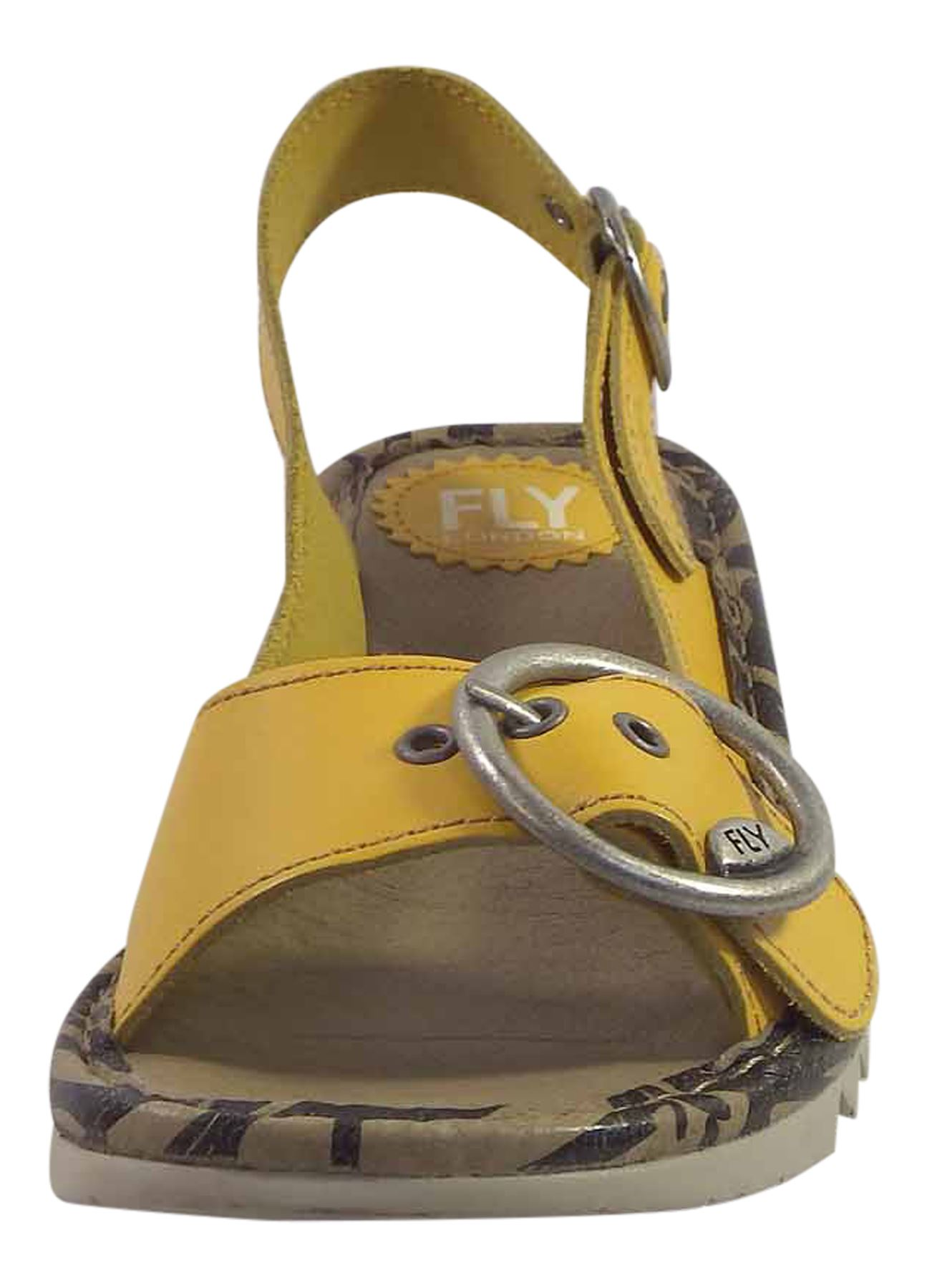Fly-London-Ladies-TRAM723FLY-Lo-Wedge-Slingback-Summer-Sandals-Leather thumbnail 48