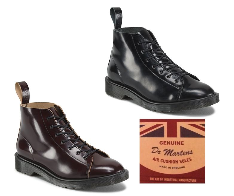 Dr martens les made in england mie boanil brush leather 7 for Mode in england