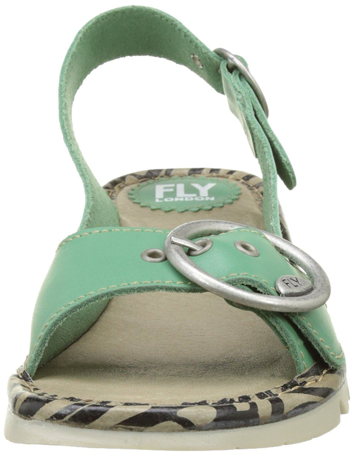Fly-London-Ladies-TRAM723FLY-Lo-Wedge-Slingback-Summer-Sandals-Leather thumbnail 53