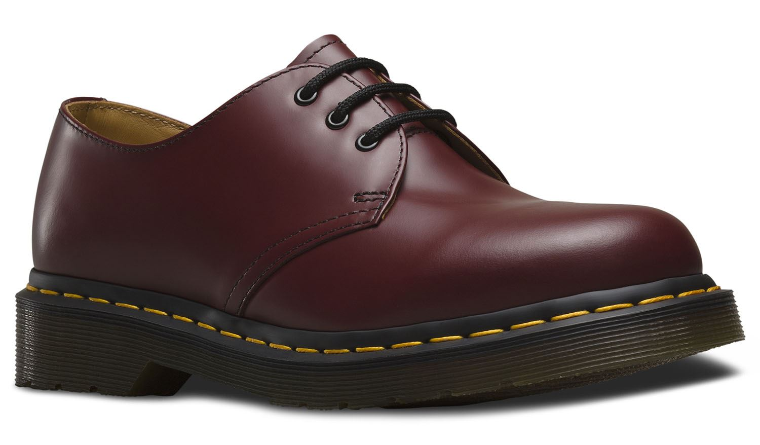 Dr Martens  Uomo 1461 59 Classic Cherry Smooth ROT + Yellow Welt Smooth Cherry Leder Schuhes d4a6cf