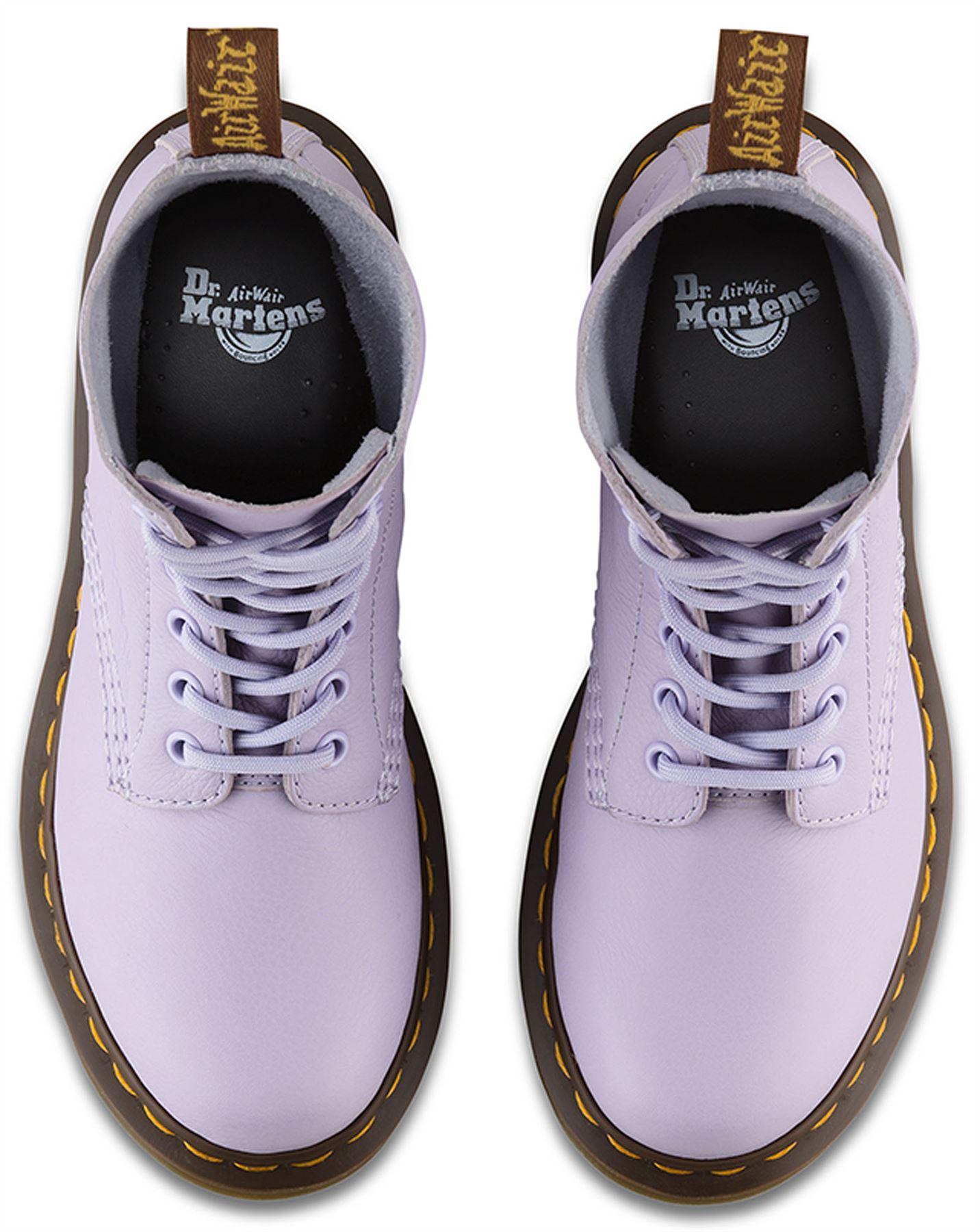 Dr Martens Pascal 1460 Purple Heather Virginia Virginia Virginia Soft Nappa Leder Stiefel 5624a7