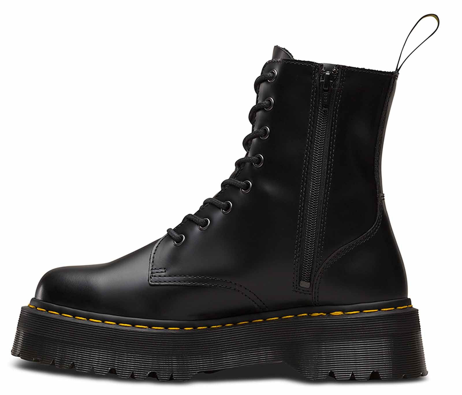 Jadon Flatform Boots - Black polished smoot Dr. Martens