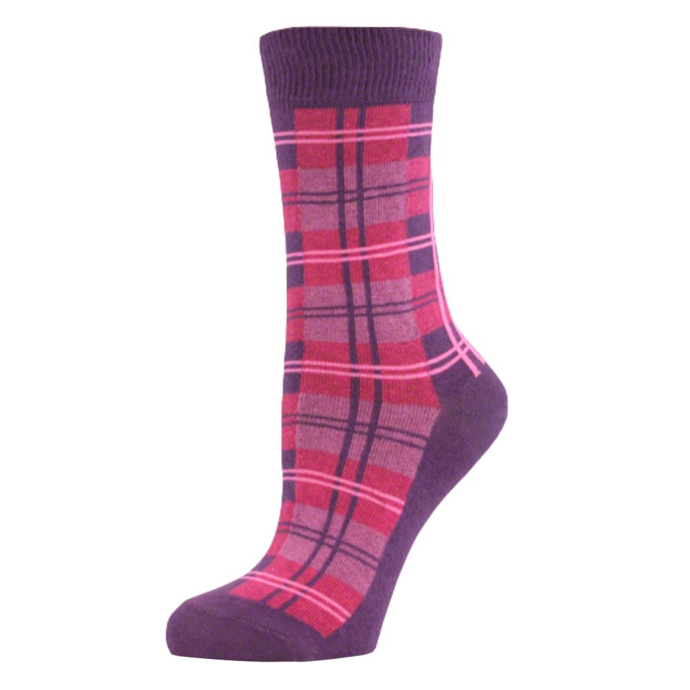 Womens-Ladies-Girls-Tartan-Checked-Mid-Calf-Ankle-Crew-Short-Plaid-Socks-New-Lot