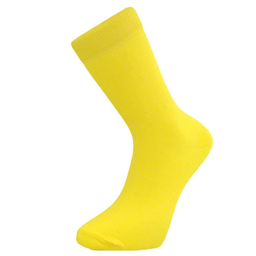 Comoda-De-Algodon-Formal-Casuales-Llanura-Calcetines-Para-Hombre