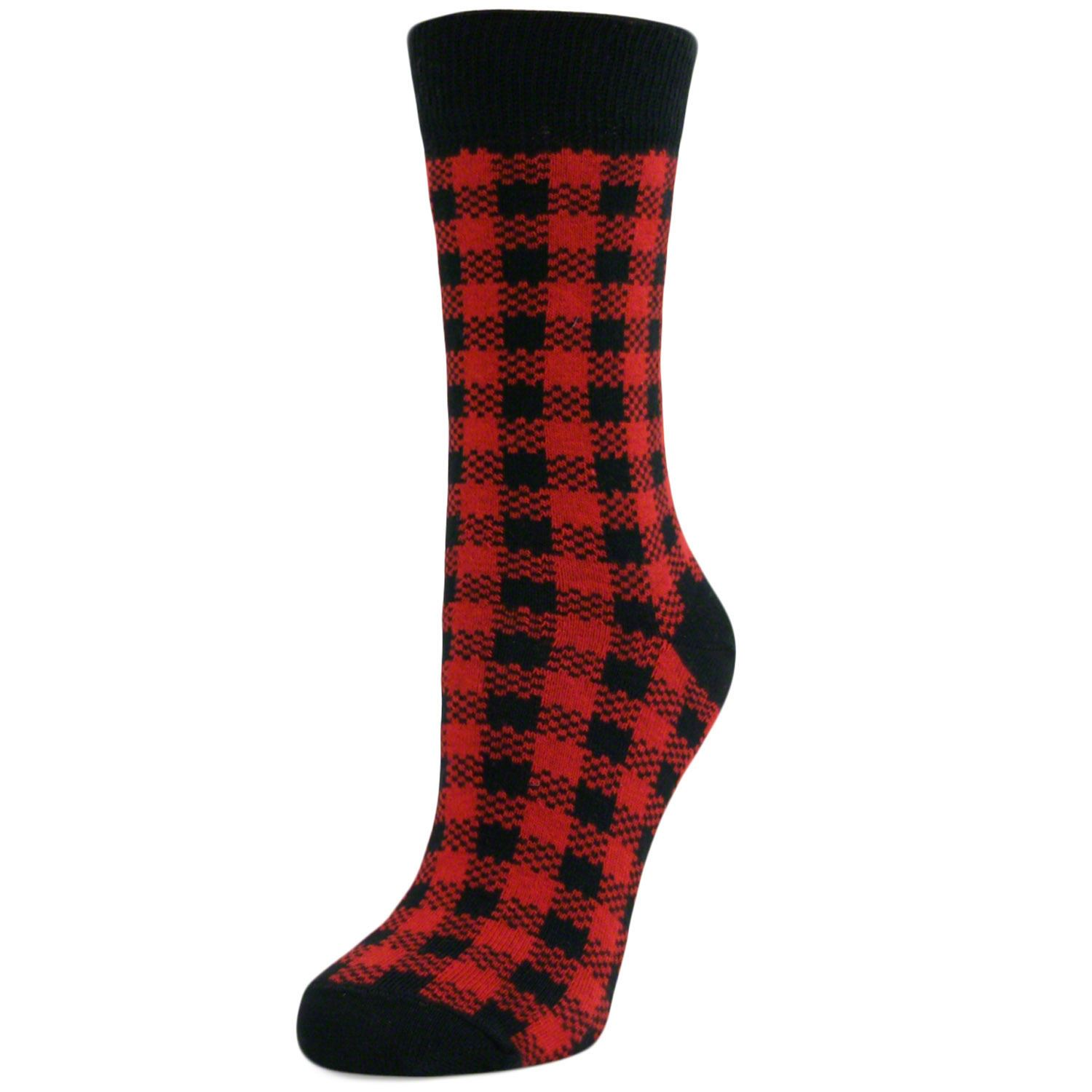 Womens-Ladies-Girls-Checked-Mid-Calf-Ankle-Crew-Short-Patterned-Socks-New-Lot