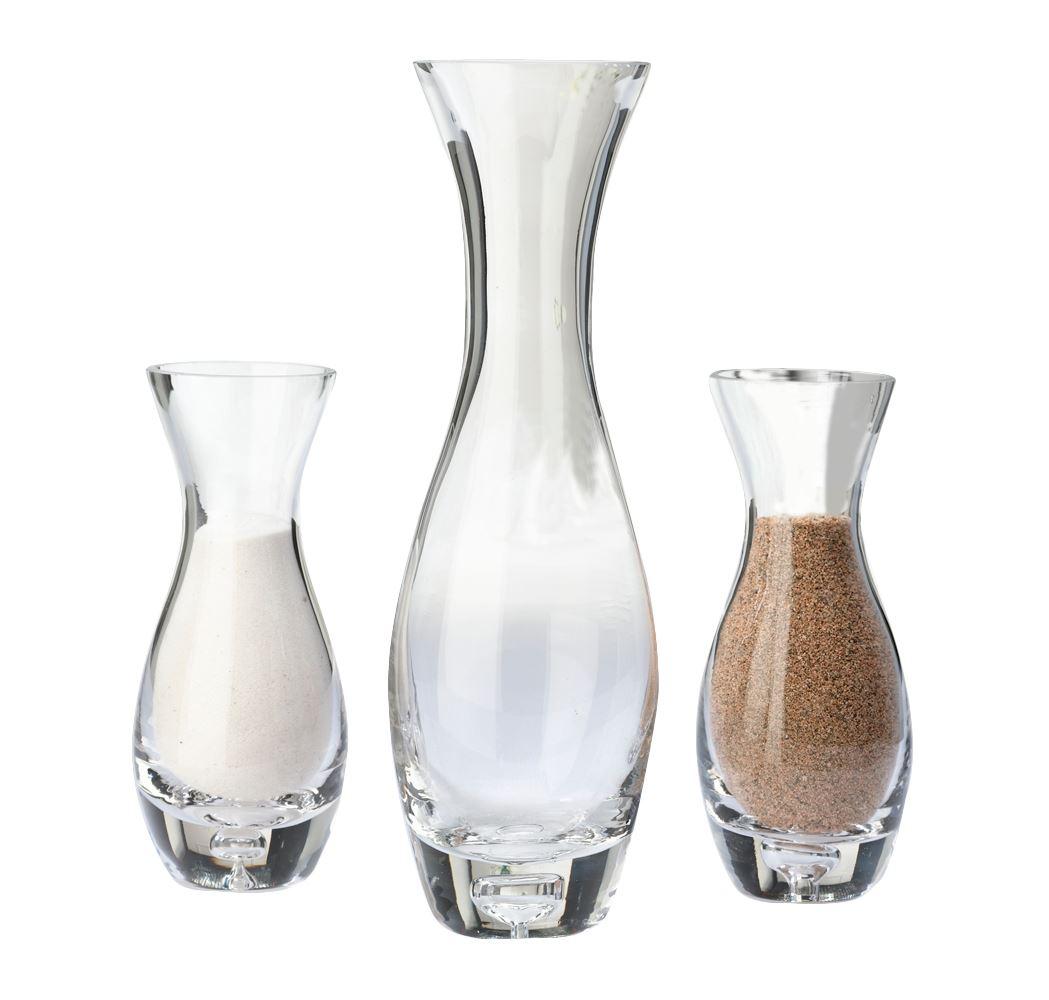 Set of 3 wedding ceremony glass unity sand vase with tag ebay set of 3 wedding ceremony glass unity sand vase with tag reviewsmspy