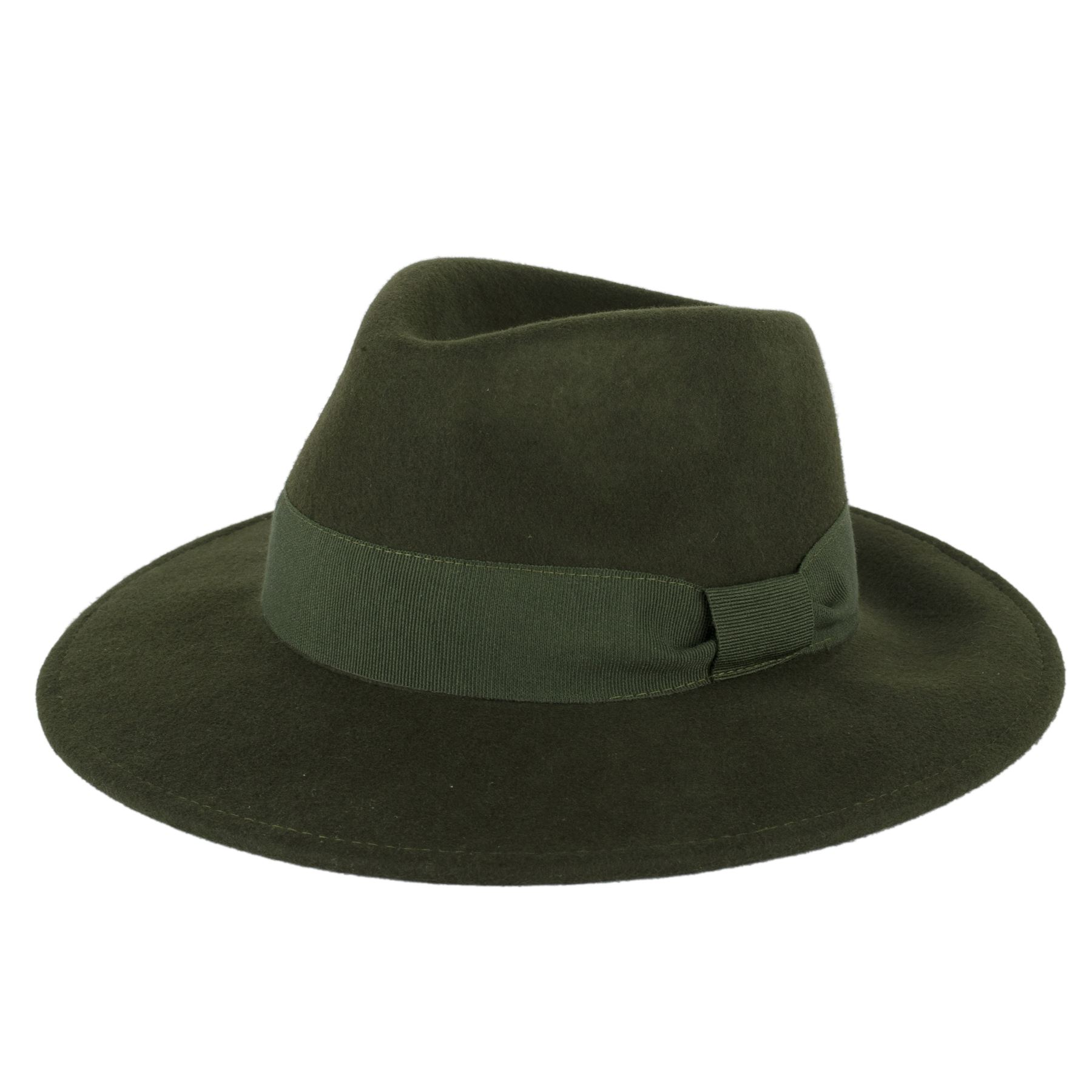 Mens Ladies 100 Wool Handmade in Italy Unisex Fedora Hat With ... 03551f84dcc