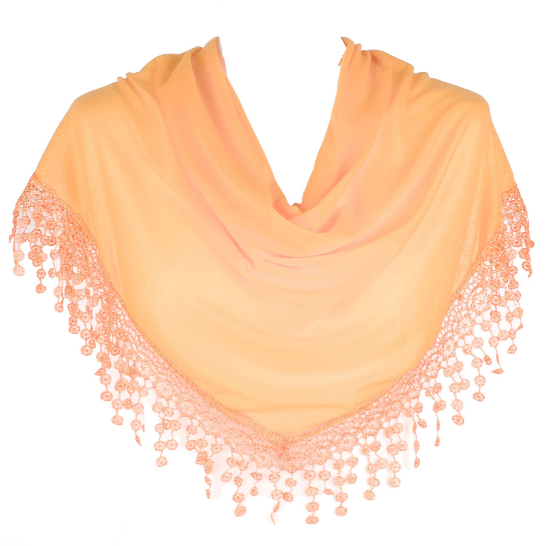 Ladies women plain wrap shawl scarvesscarf chandelier lace style chandelier lace style salmon pink picture 2 of 3 arubaitofo Choice Image
