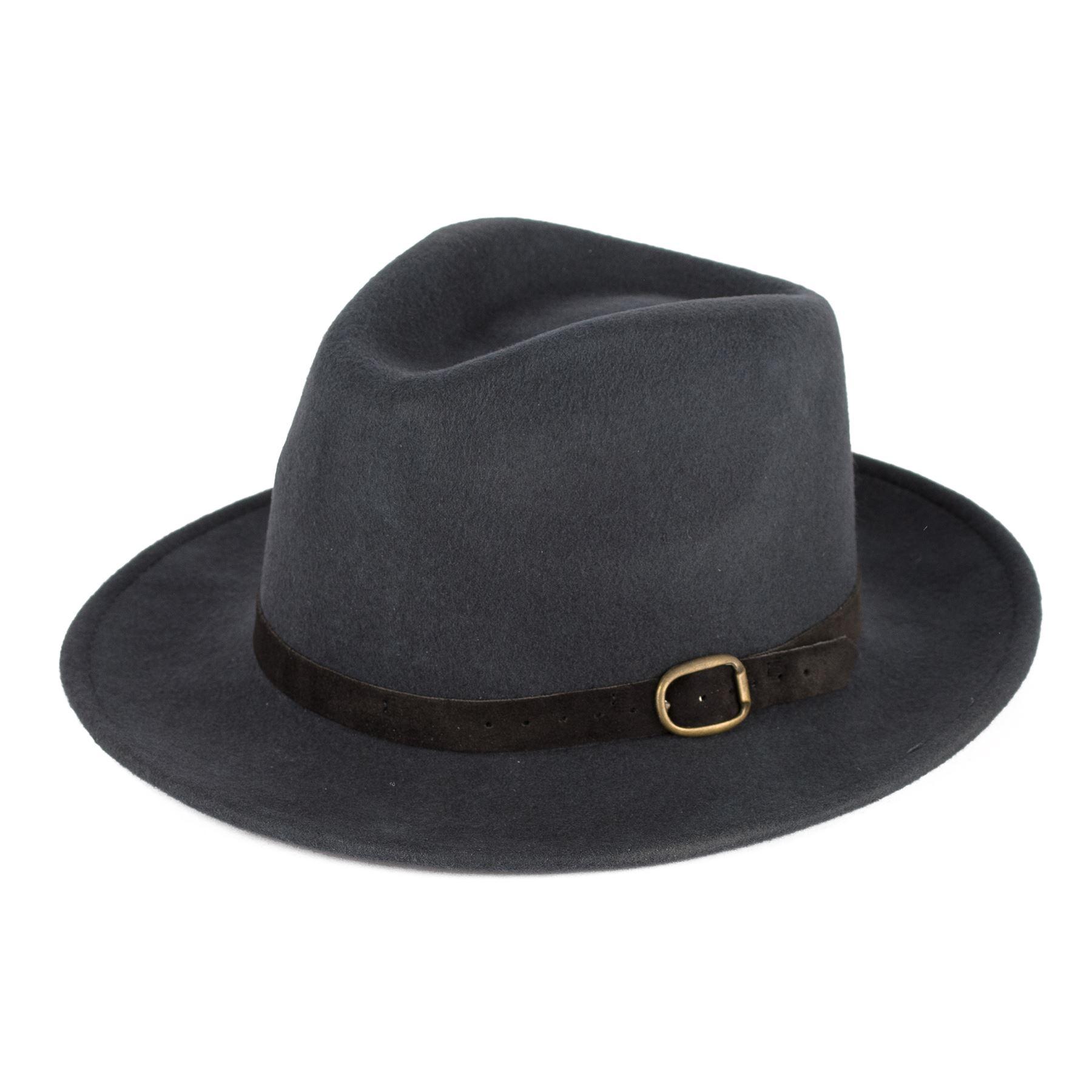 Men's Ladies Handmade Fedora Hat Made In Italy 100% Wool