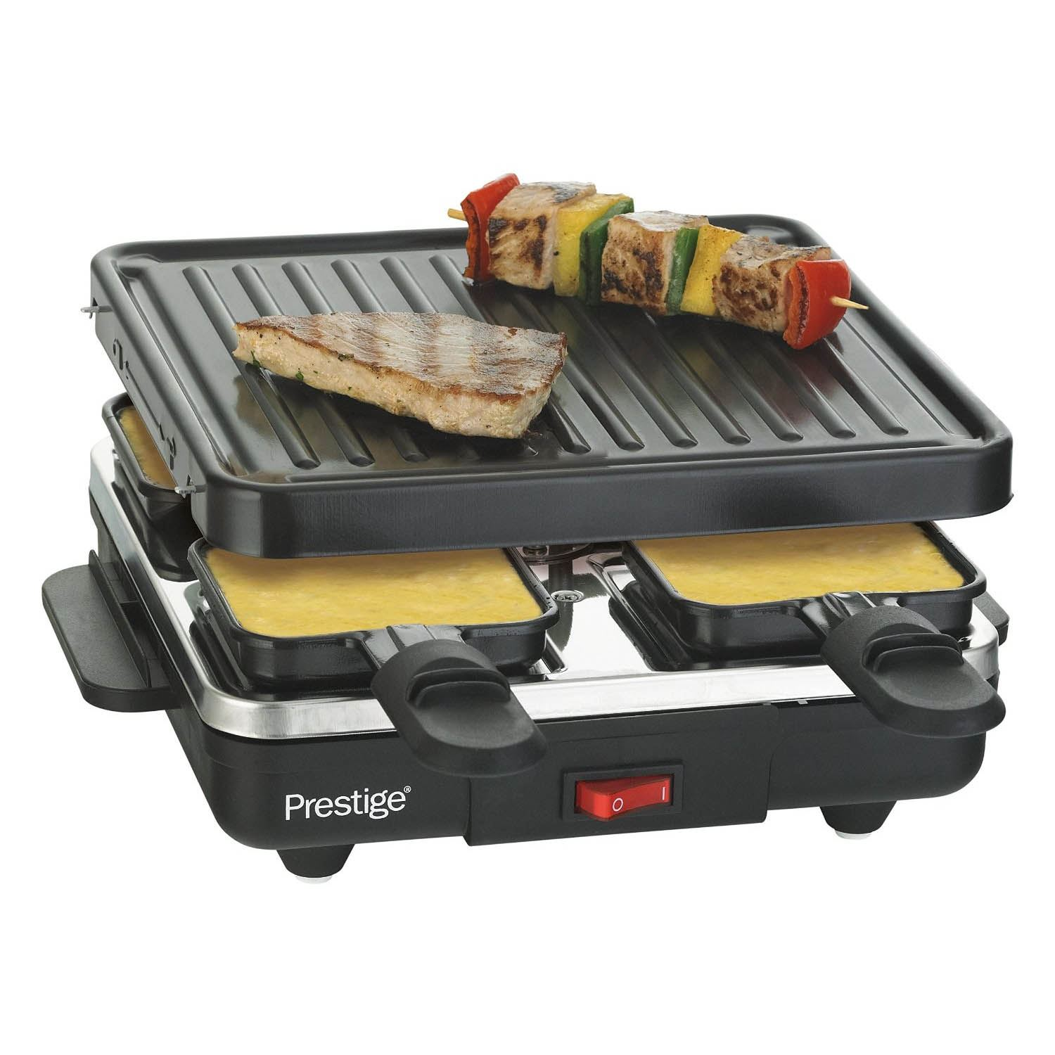 Prestige 59908 Non-stick Pan Cheese Raclette Grill BBQ New