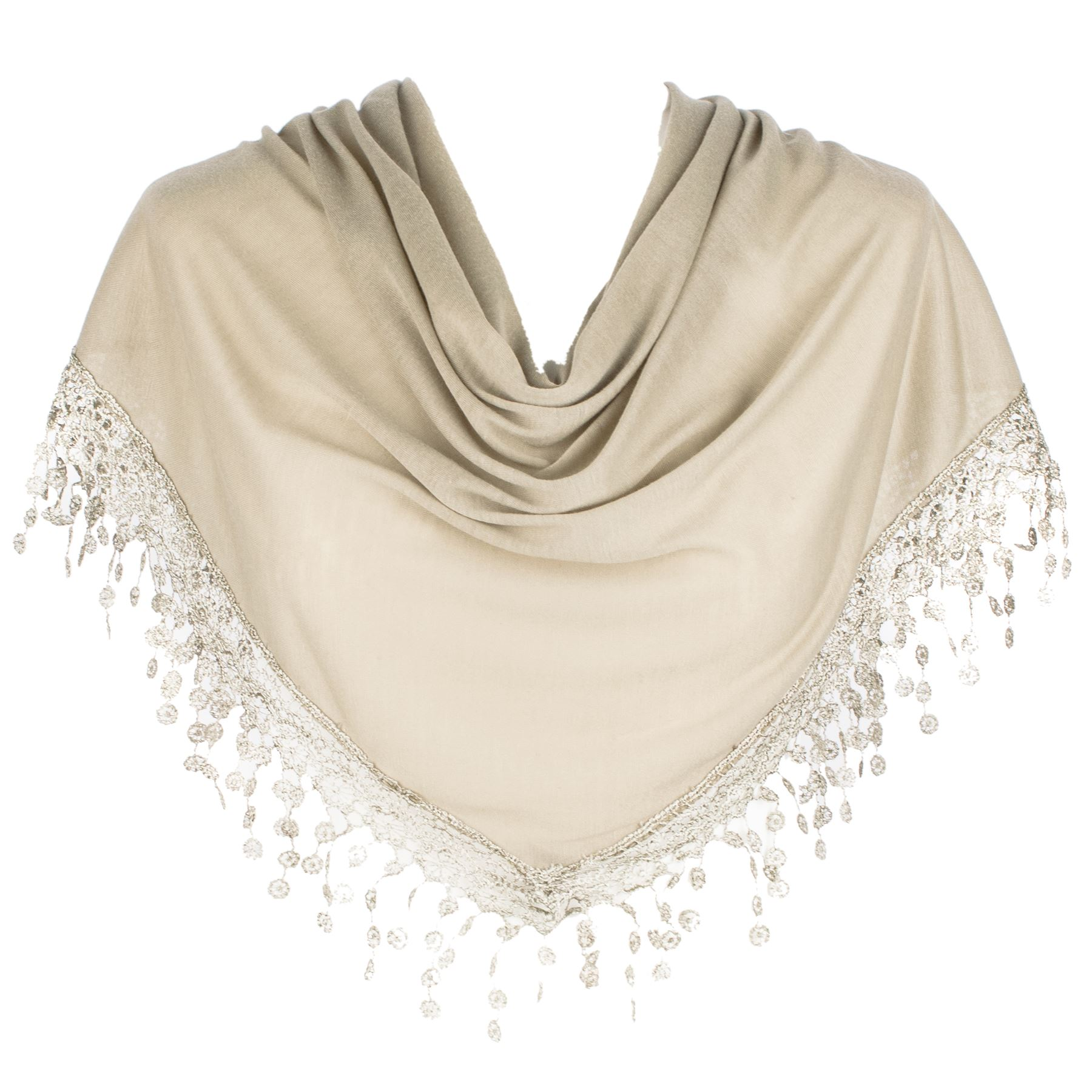 Ladies women plain wrap shawl scarvesscarf chandelier lace style picture 2 of 3 arubaitofo Choice Image
