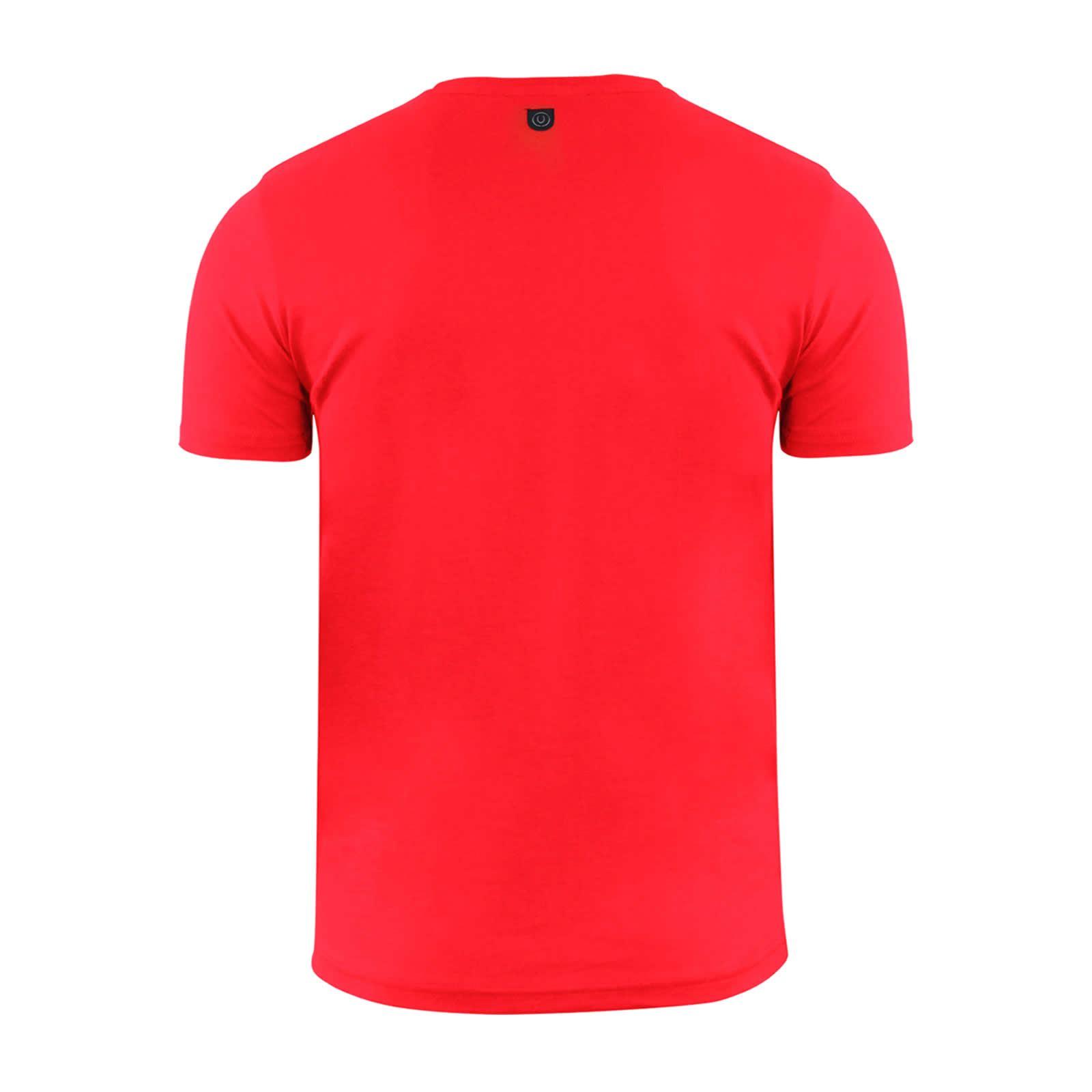 miniature 3 - Hommes-T-Shirt-Duck-amp-Cover-Quoins-coton-graphique-a-encolure-ras-du-cou-a-manches-courtes-Tee