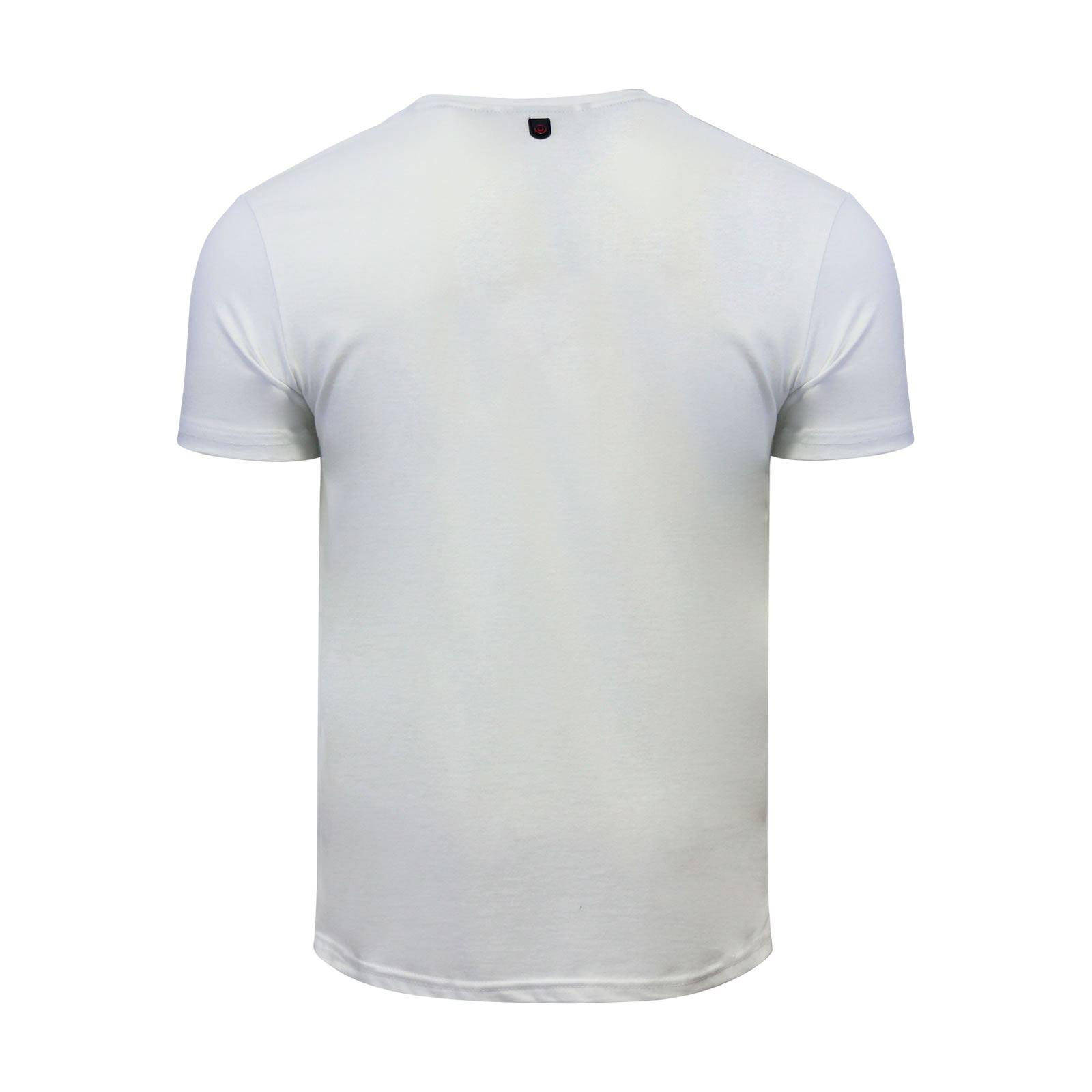 miniature 7 - Hommes-T-Shirt-Duck-amp-Cover-JEREM-a-encolure-ras-du-cou-a-manches-courtes-Graphic-Tee