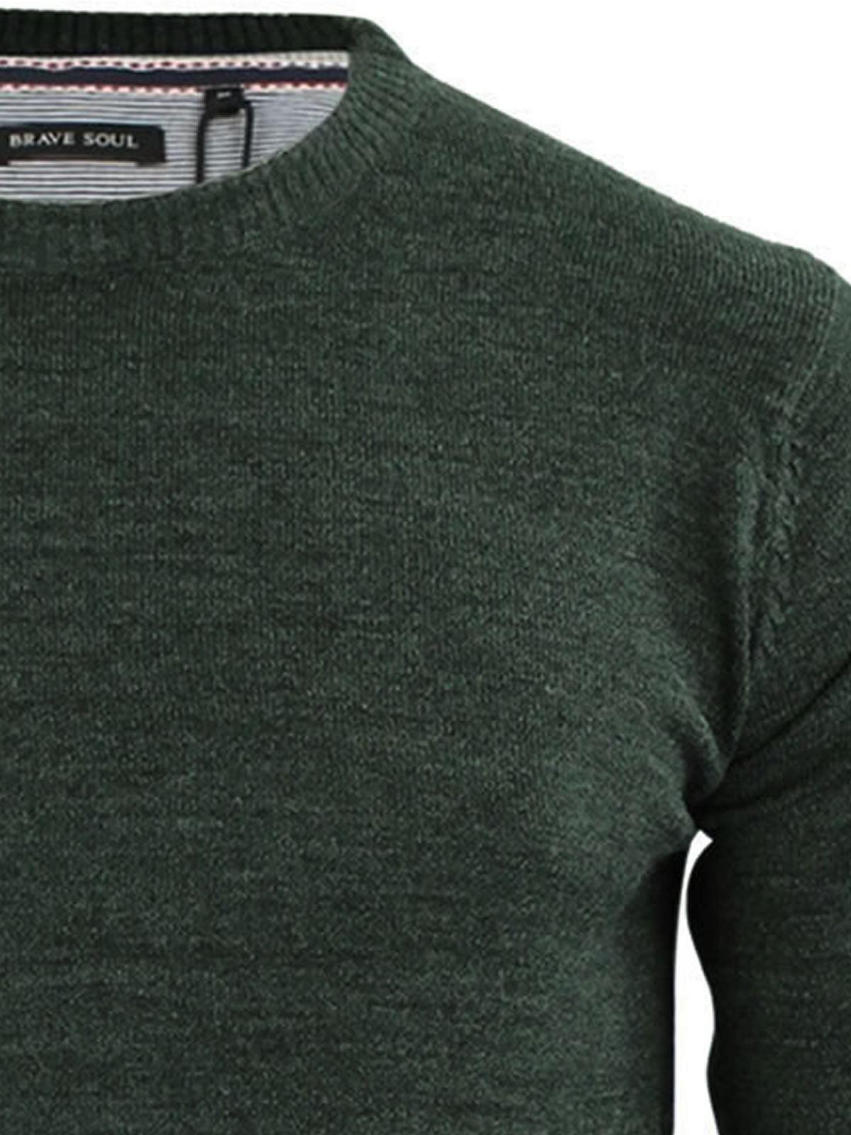 Mens-Jumper-Brave-Soul-Urbain-Knitted-Crew-Neck-Sweater thumbnail 19