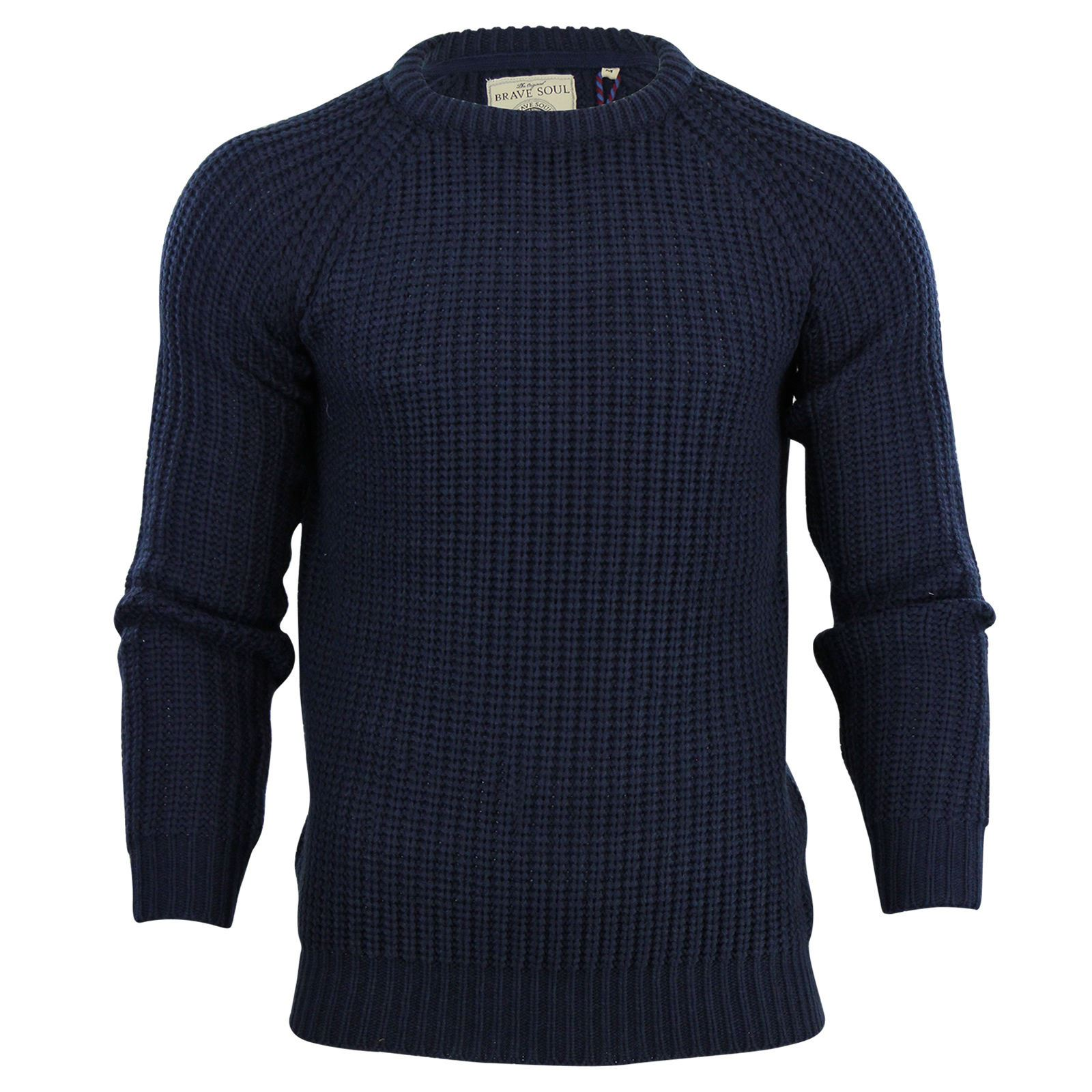Mens-Jumper-Brave-Soul-Knitted-Sweater-In-Various-Styles thumbnail 61