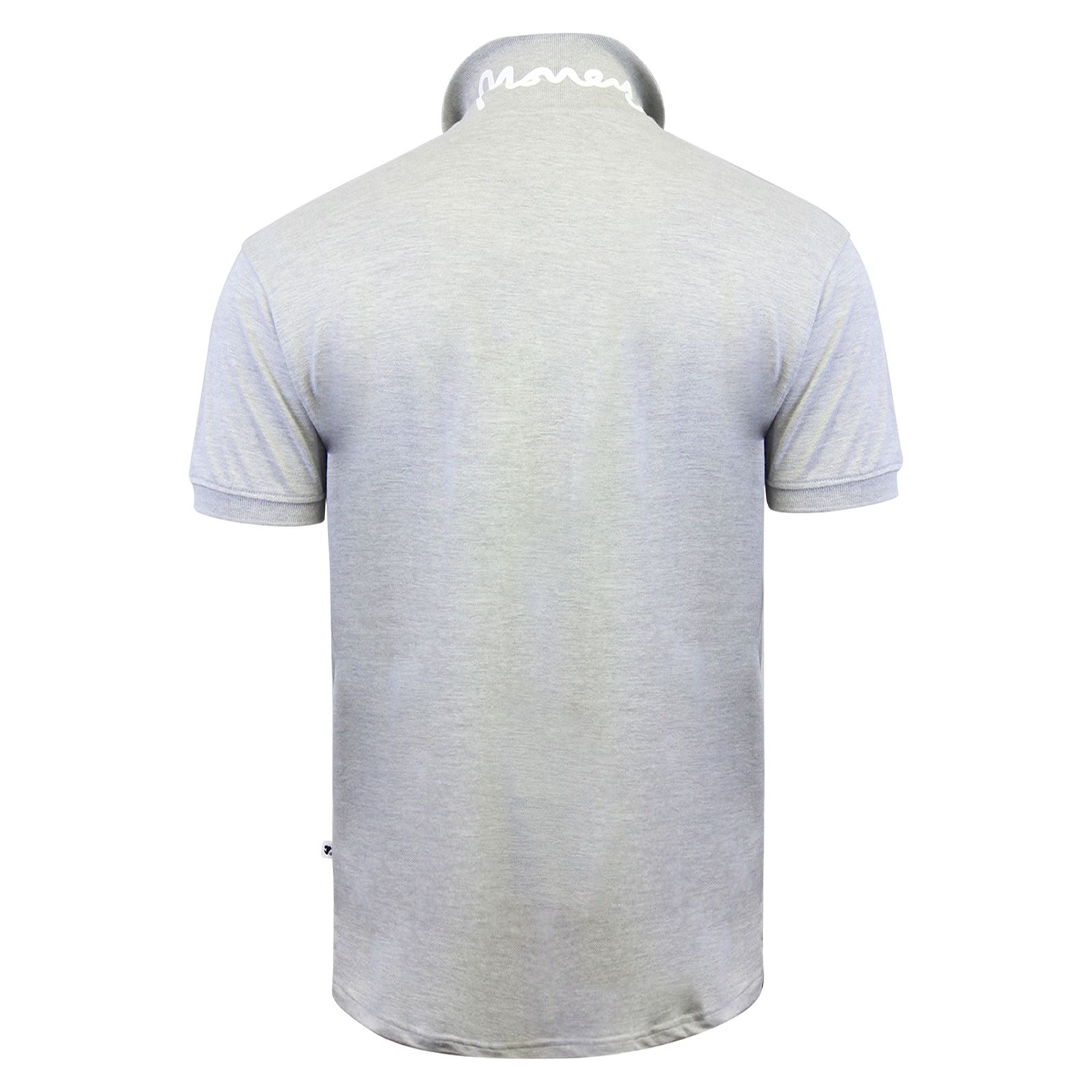 Argent-ante-Homme-Polo-Shirt-a-Manches-Courtes-en-Coton-Col-Haut-Decontracte miniature 7