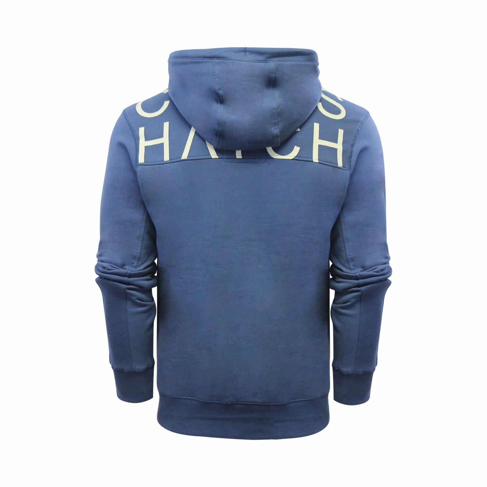 Mens-Hoodie-Crosshatch-Sunbirds-Cotton-Hooded-Pull-Over-Sweater thumbnail 7