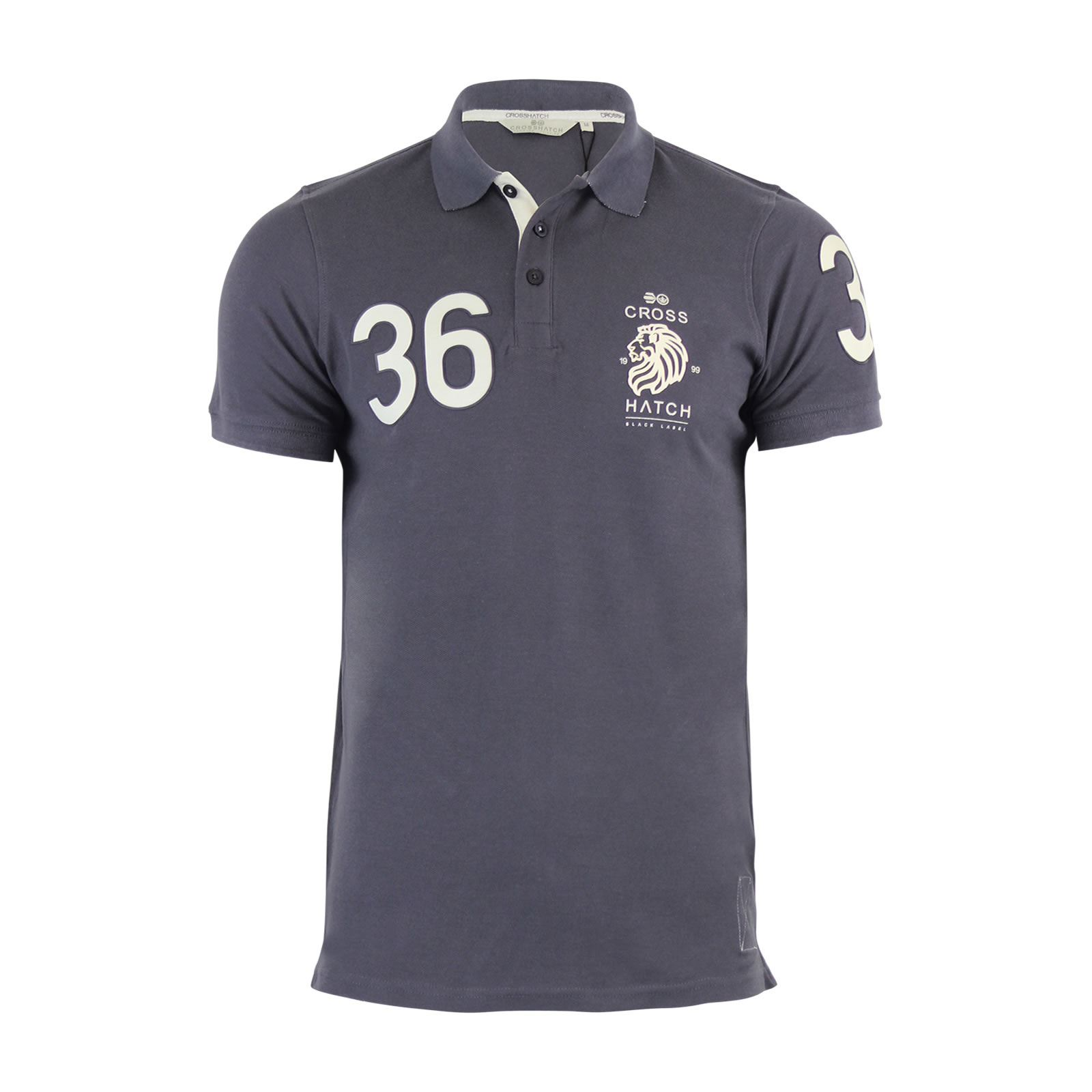 Crosshatch-Mens-Polo-T-Shirt-Pique-Polo-Cotton-Collared-Short-Sleeve-T-Shirt thumbnail 23