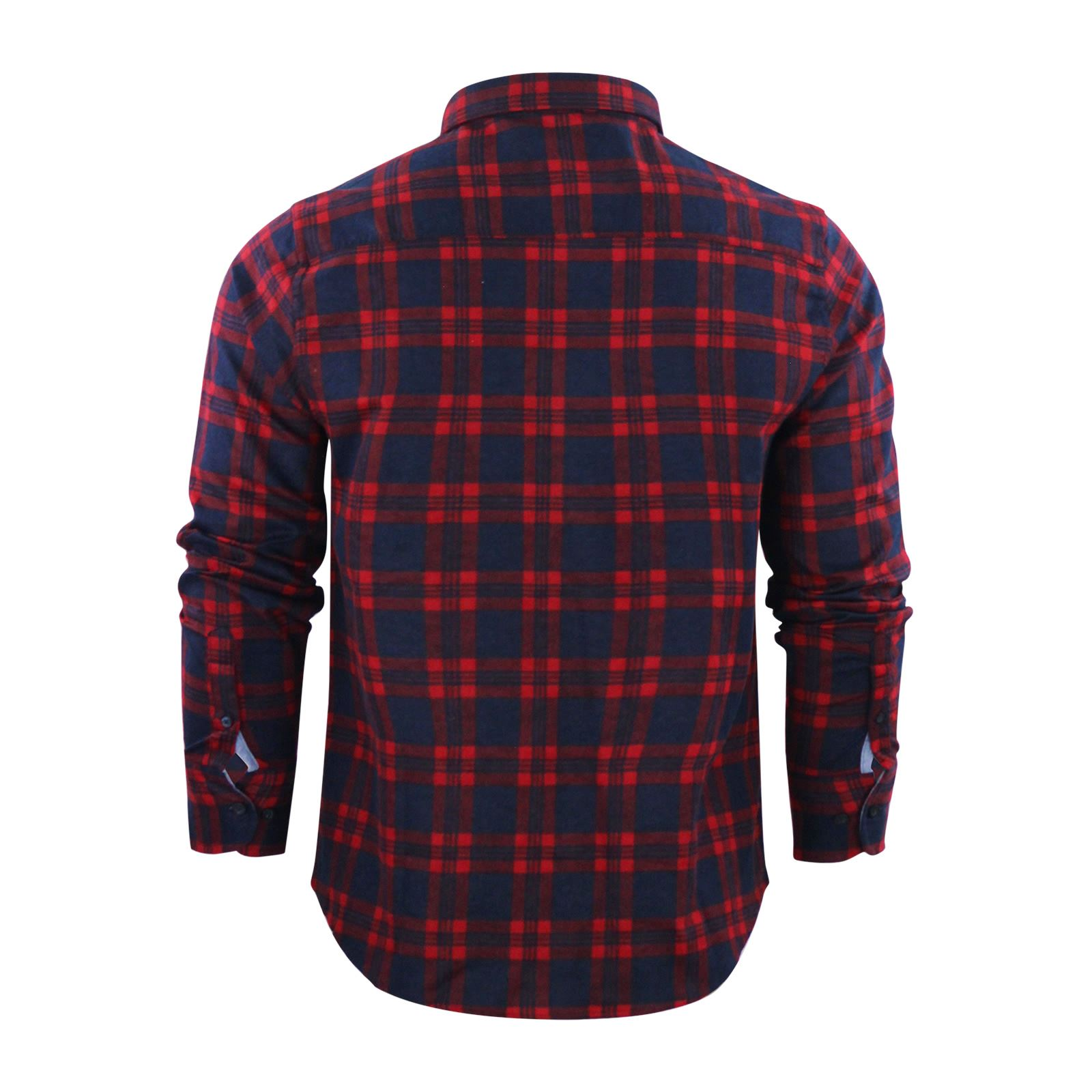 Mens-Check-Shirt-Brave-Soul-Flannel-Brushed-Cotton-Long-Sleeve-Casual-Top thumbnail 78