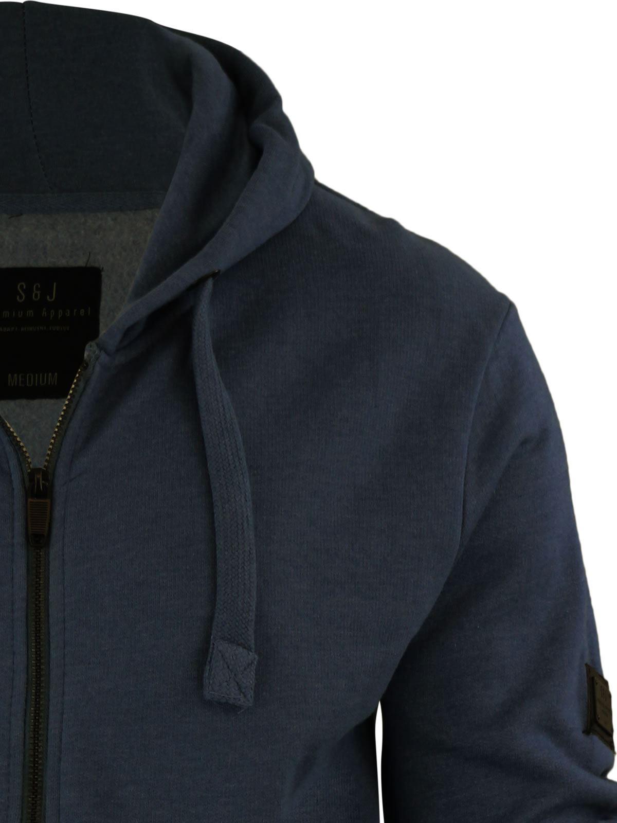Mens-Hoodie-Smith-amp-Jones-Zip-Up-Hooded-Sweater-Jumper thumbnail 34