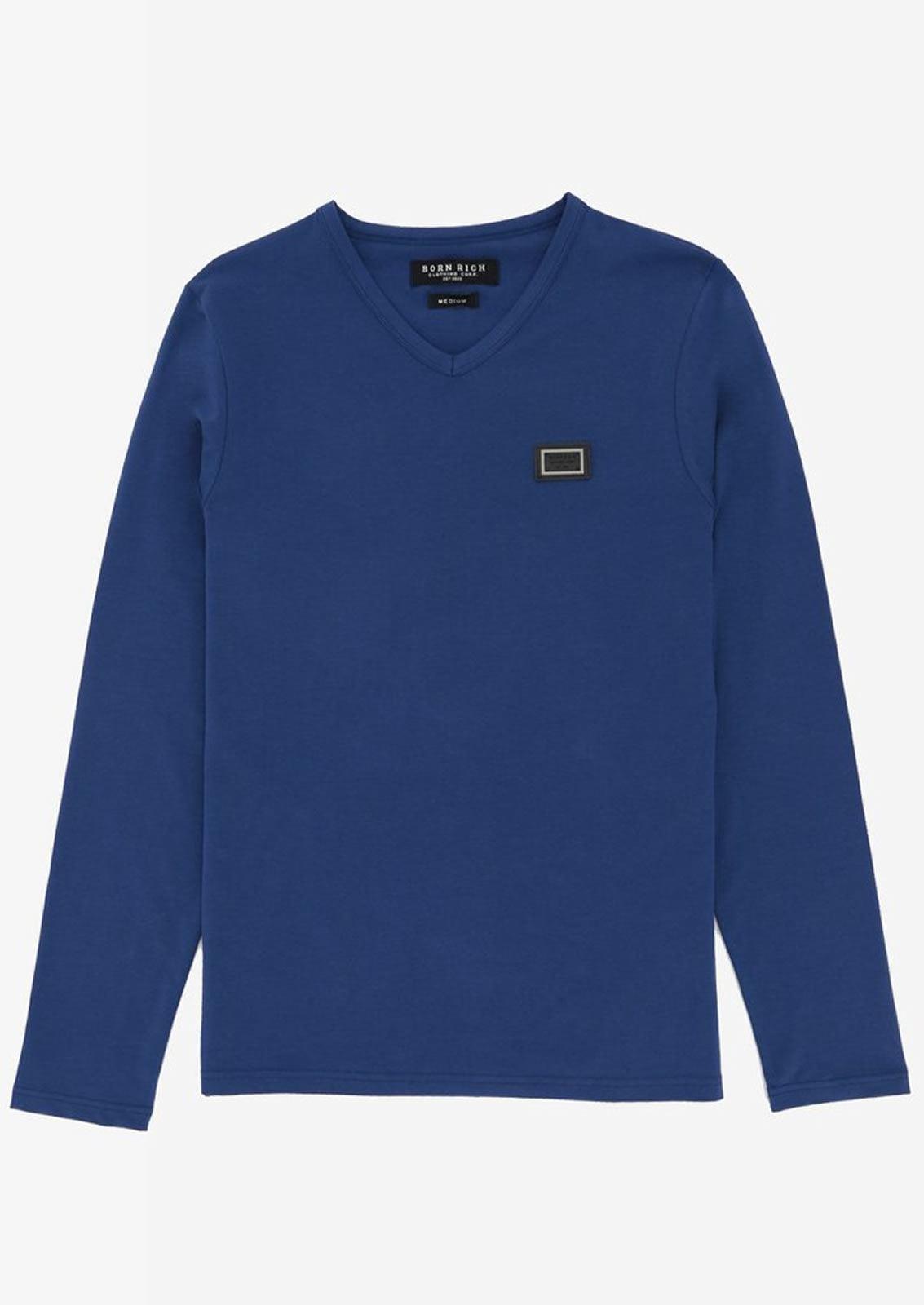 Ne-riche-par-l-039-argent-vetements-jaspe-sanguin-Hommes-T-Shirt-a-Manches-Longues-V-Neck-Tee miniature 7