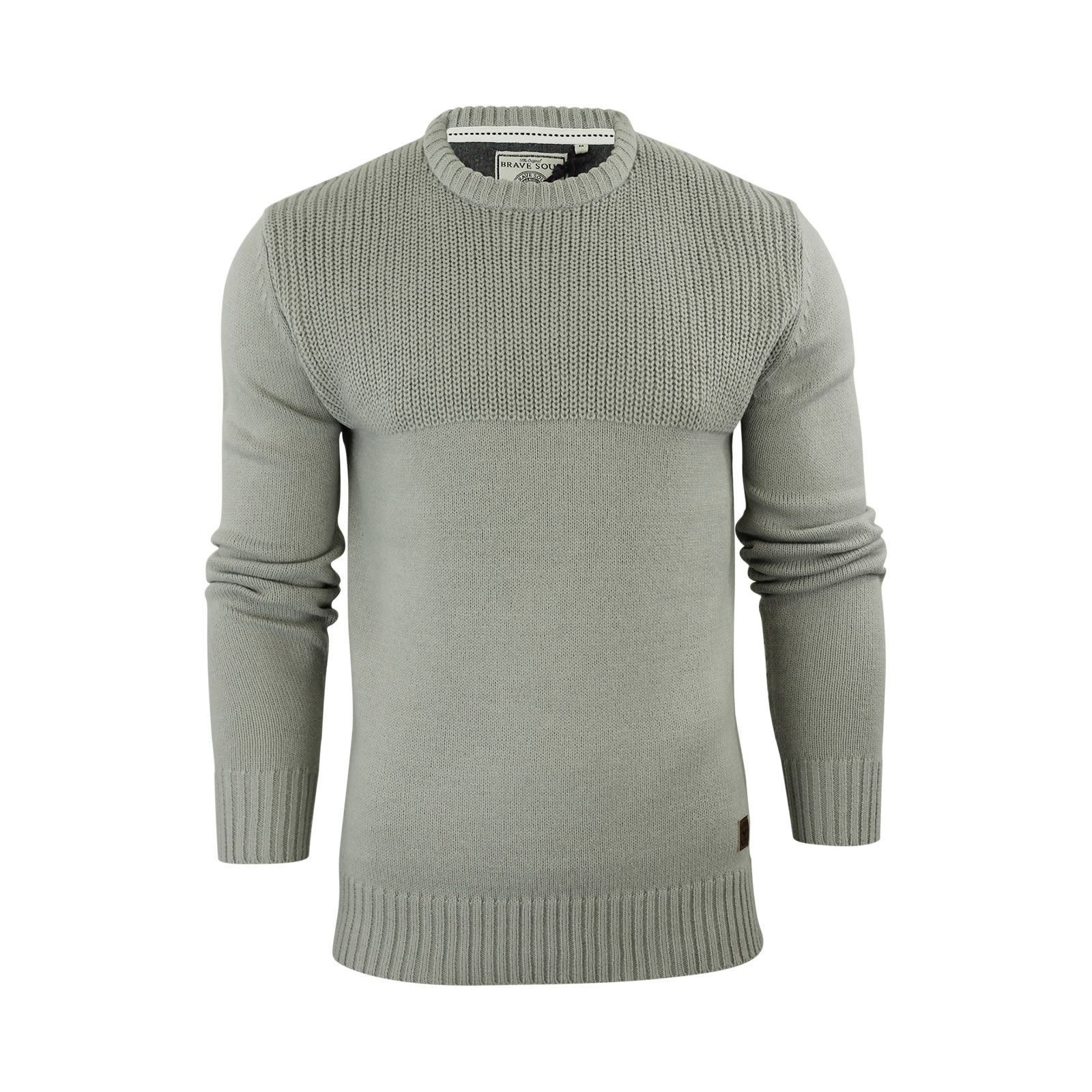 Mens-Jumper-Brave-Soul-Knitted-Sweater-In-Various-Styles thumbnail 27