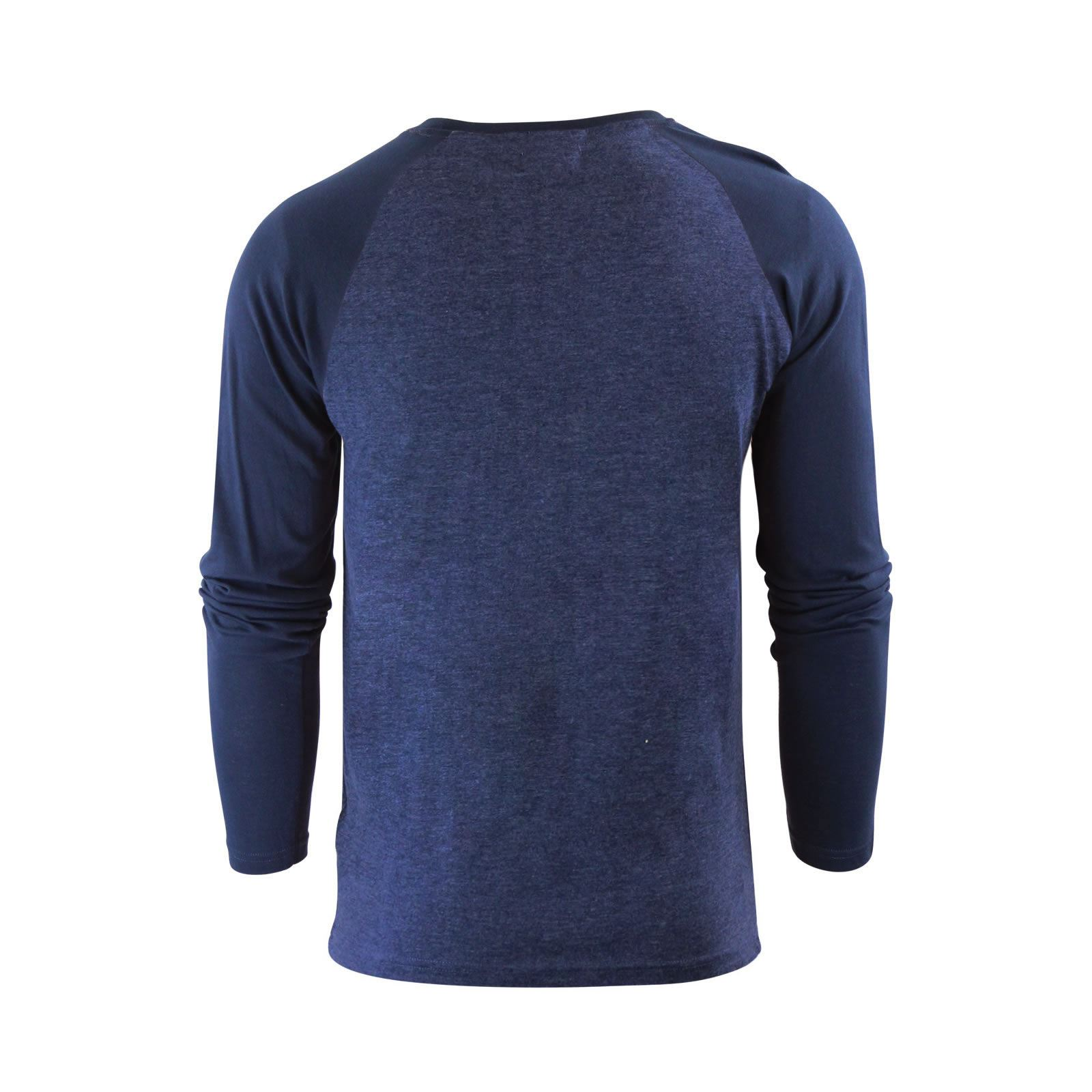 Mens-T-Shirt-by-Brave-Soul-Prague-Cotton-Long-Sleeved-Crew-Neck-Casual-Top thumbnail 59