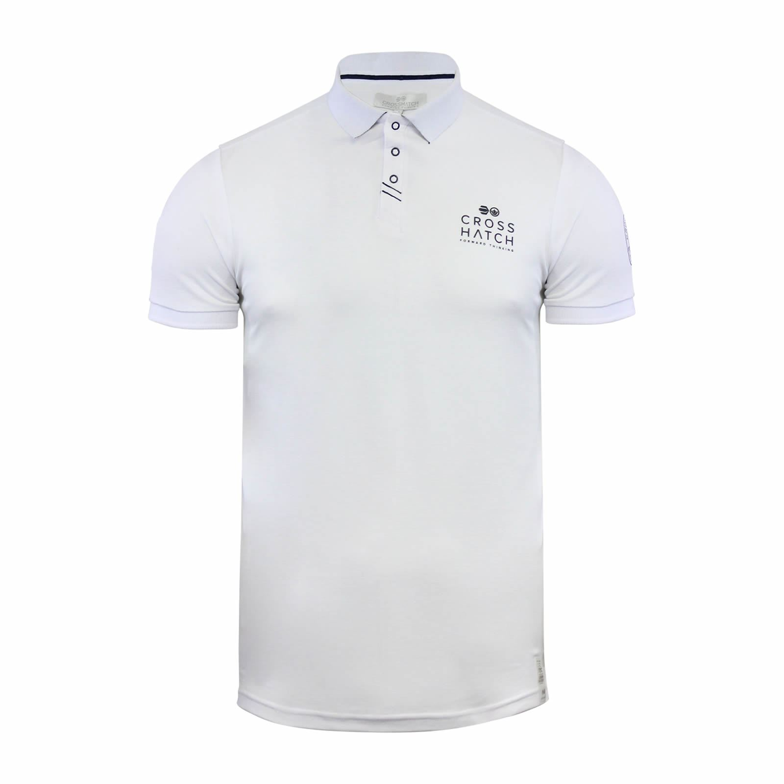 Crosshatch-Mens-Polo-T-Shirt-Pique-Polo-Cotton-Collared-Short-Sleeve-T-Shirt thumbnail 70