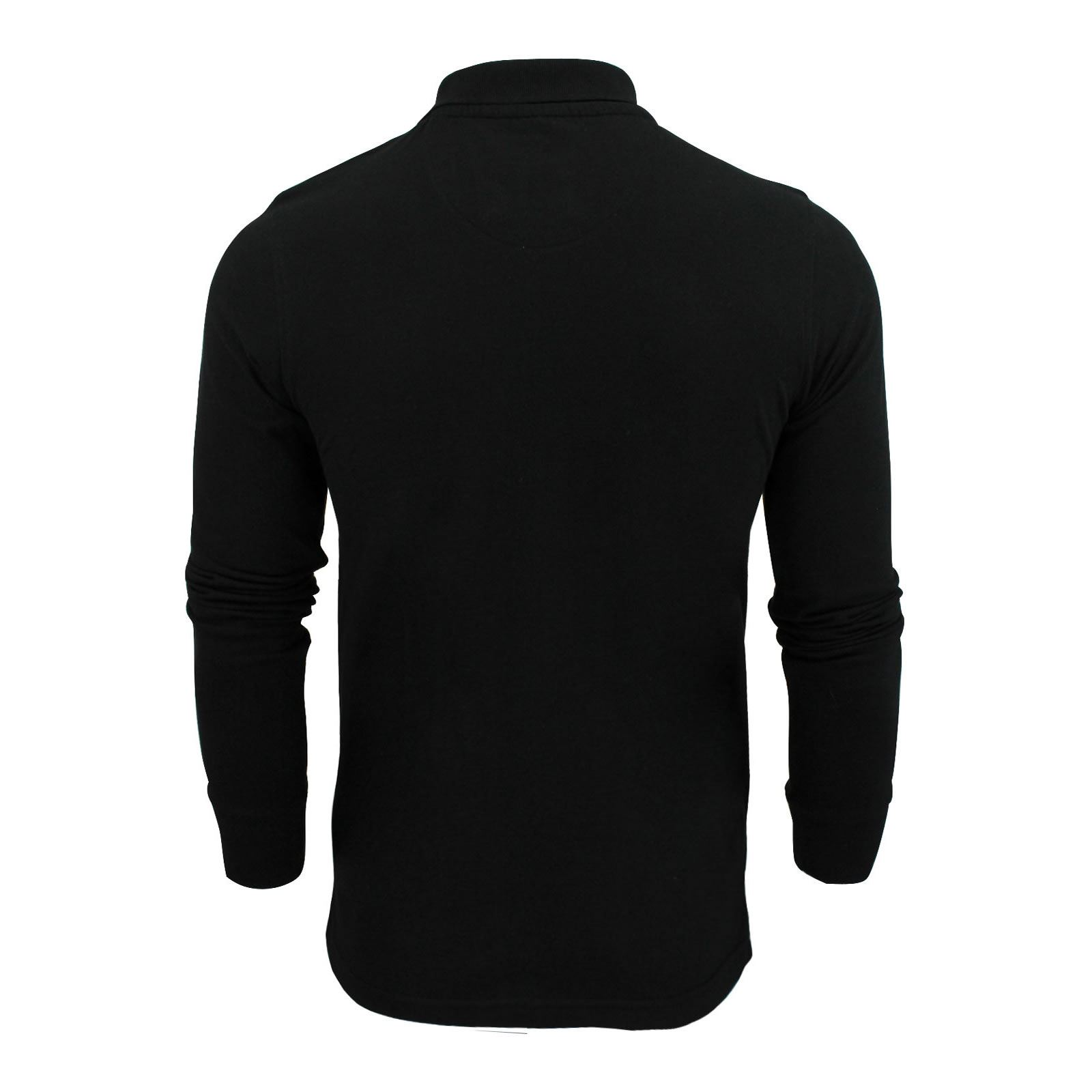 Mens-Polo-T-Shirt-Brave-Soul-Lincoln-Long-Sleeve-Cotton-Pique-Casual-Top thumbnail 3