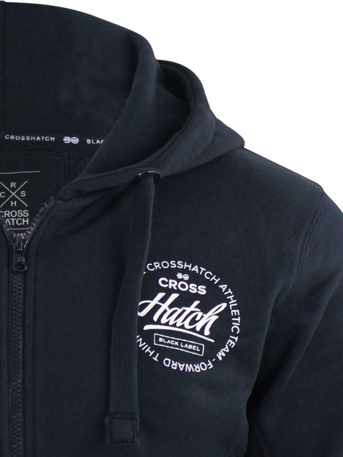 Mens-Hoodie-Crosshatch-Ribbler-Zip-Up-Hooded-Jacket-Pullover-Jumper-Sweatershirt thumbnail 20