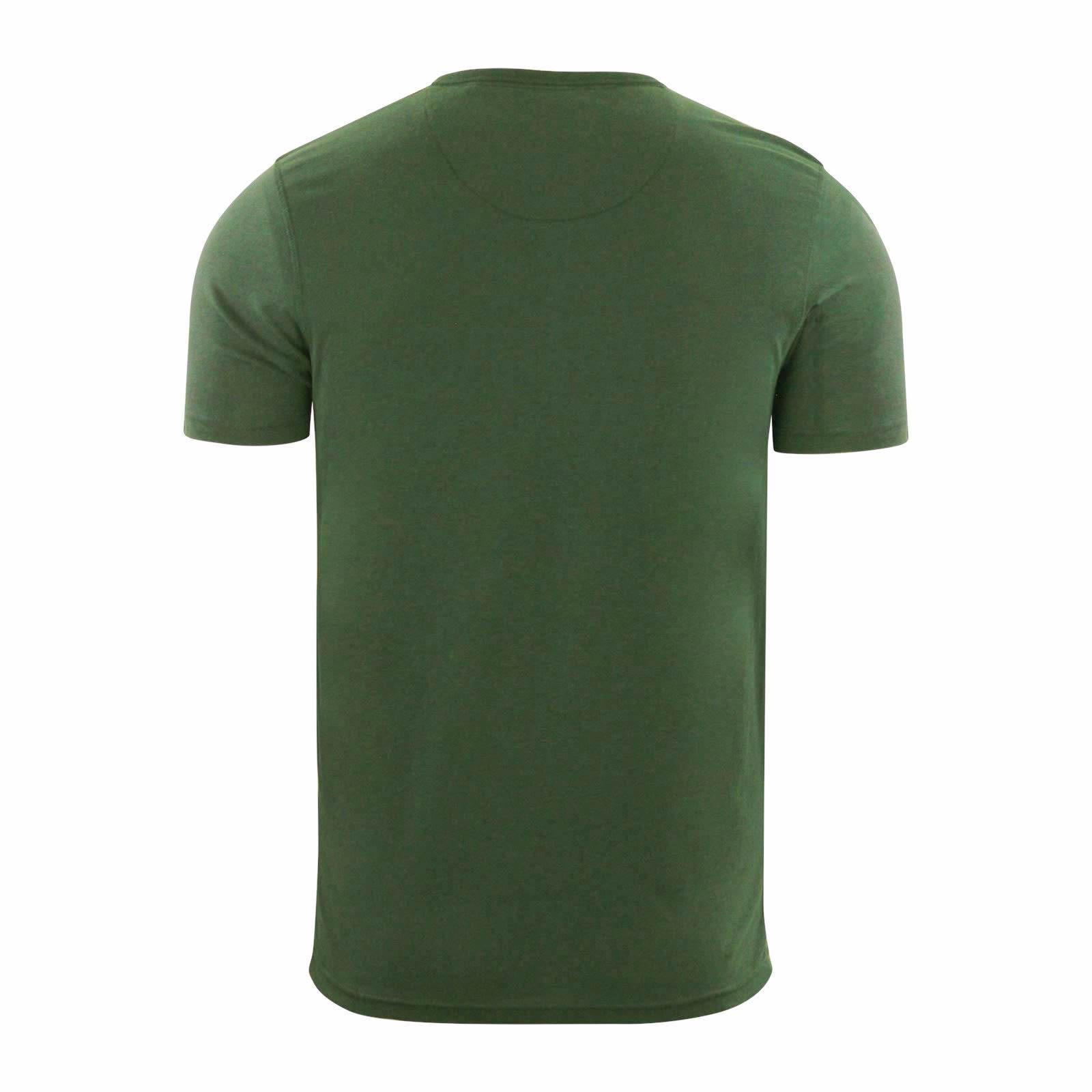 Brave-Soul-Quartz-Homme-T-Shirt-Grandad-Neck-manches-courtes-coton-tee miniature 7