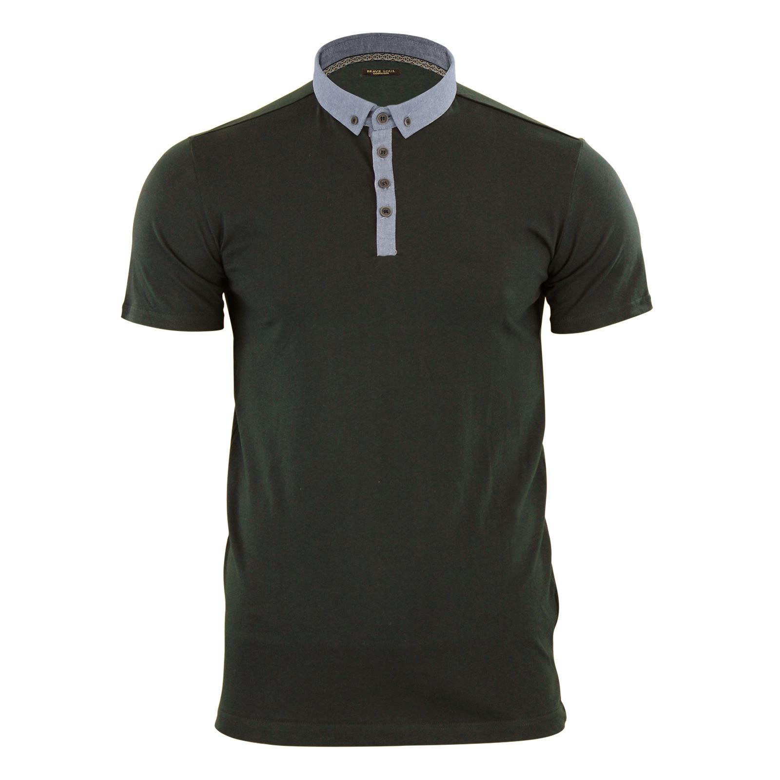 Mens-Polo-T-Shirt-Brave-Soul-Glover-Cotton-Collared-Short-Sleeve-Casual-Top thumbnail 33
