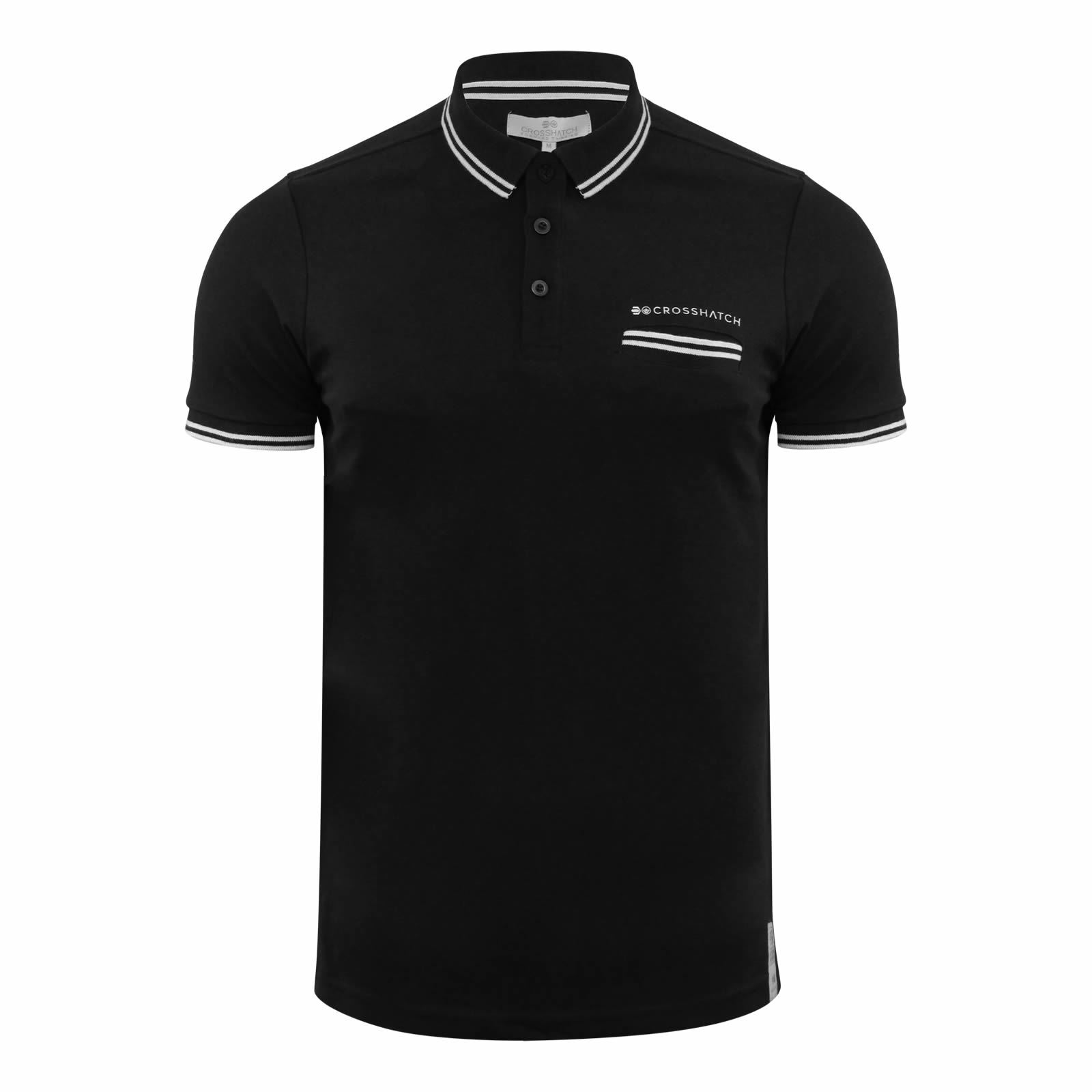 Crosshatch-Mens-Polo-T-Shirt-Pique-Polo-Cotton-Collared-Short-Sleeve-T-Shirt thumbnail 61