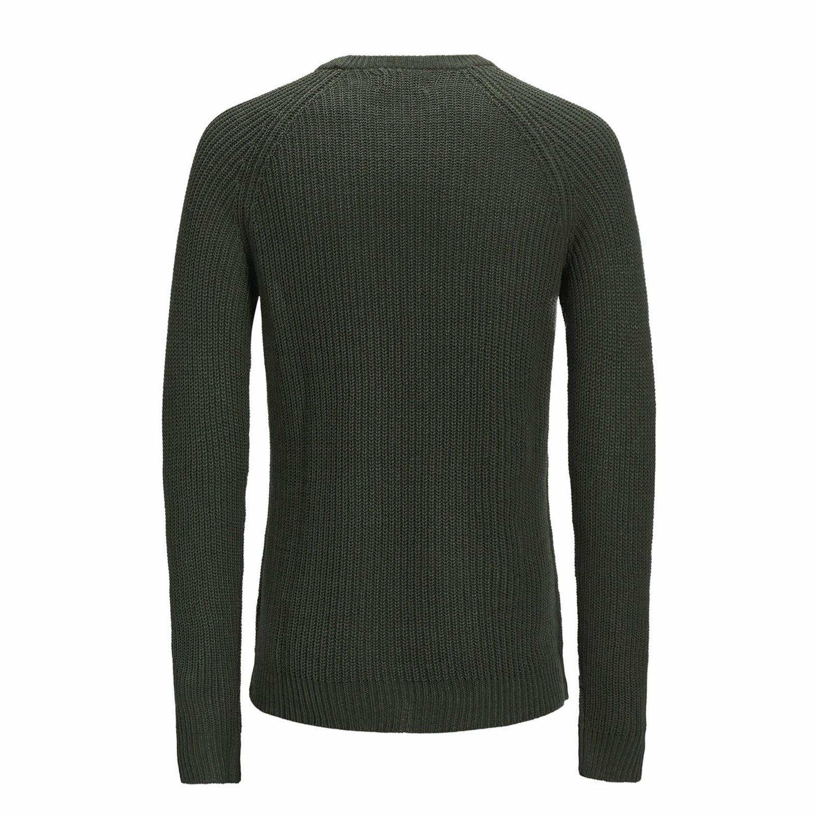Jack-amp-Jones-Panneau-Pull-homme-a-encolure-ras-du-cou-Long-Tricot-Pull-Over-Sweater miniature 9