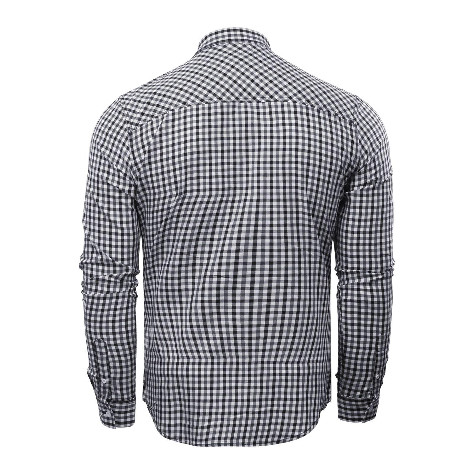 miniature 5 - Homme Chemise à carreaux Crosshatch Larix en coton à manches longues Top Casual