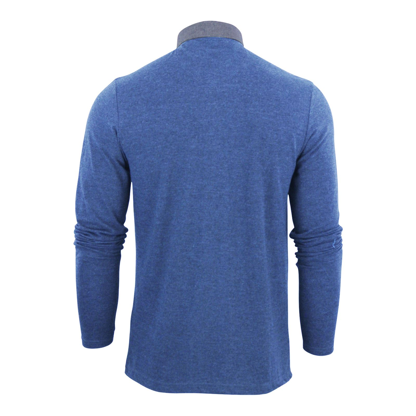 Mens-Polo-T-Shirt-Brave-Soul-Hera-Cotton-Long-Sleeve-Casual-Top thumbnail 27