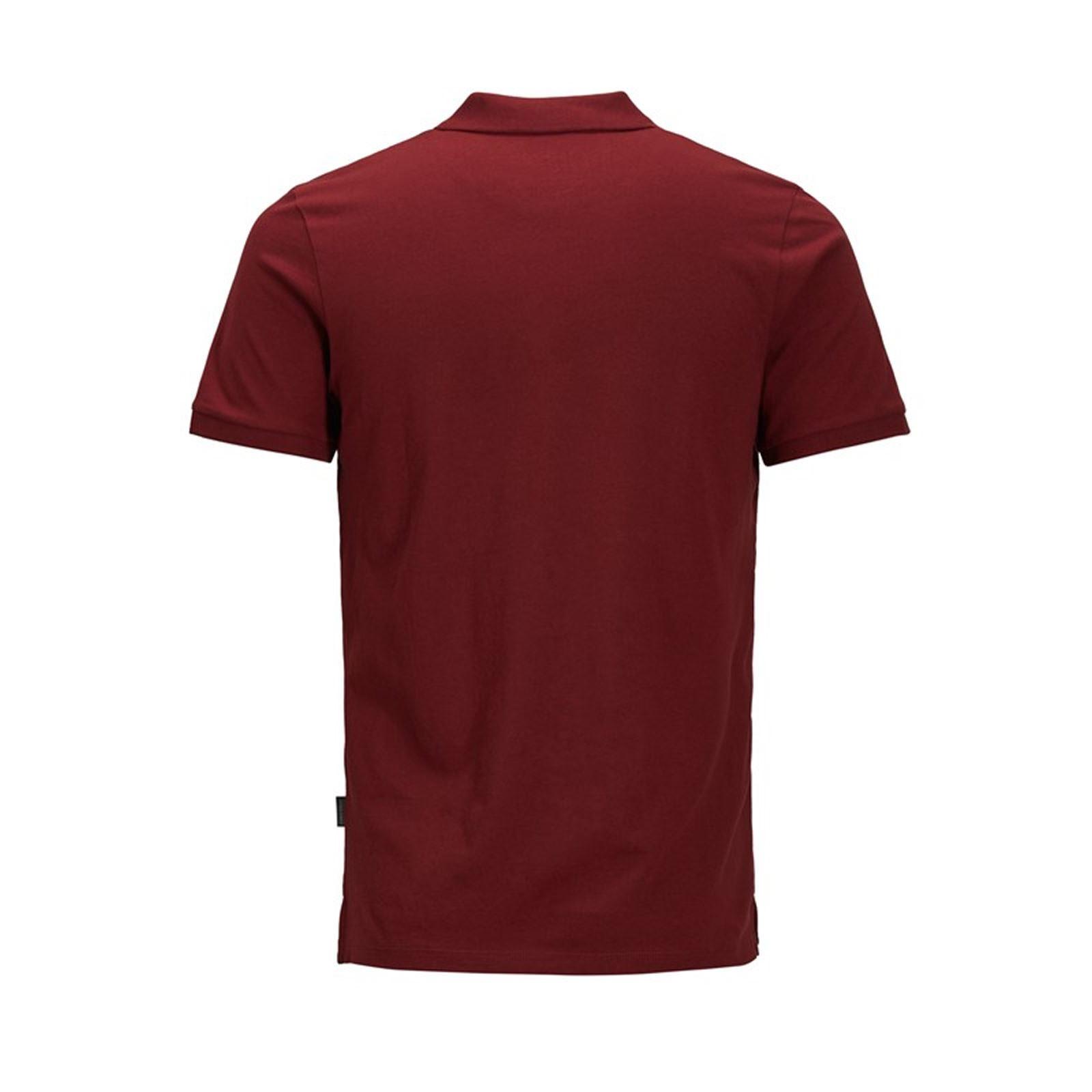 Jack-amp-Jones-Jet-Homme-Polo-T-Shirt-Jersey-Manches-Courtes-Col-Haut-Decontracte miniature 7