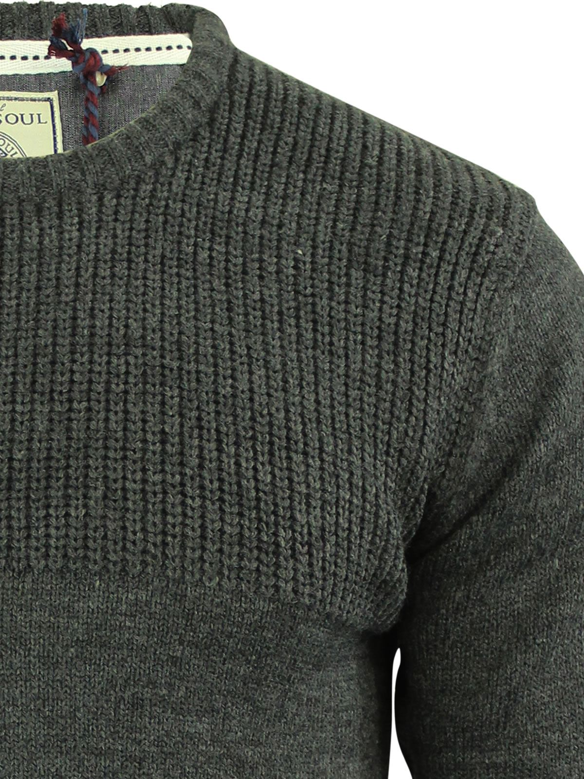 Mens-Jumper-Brave-Soul-Knitted-Sweater-In-Various-Styles thumbnail 26