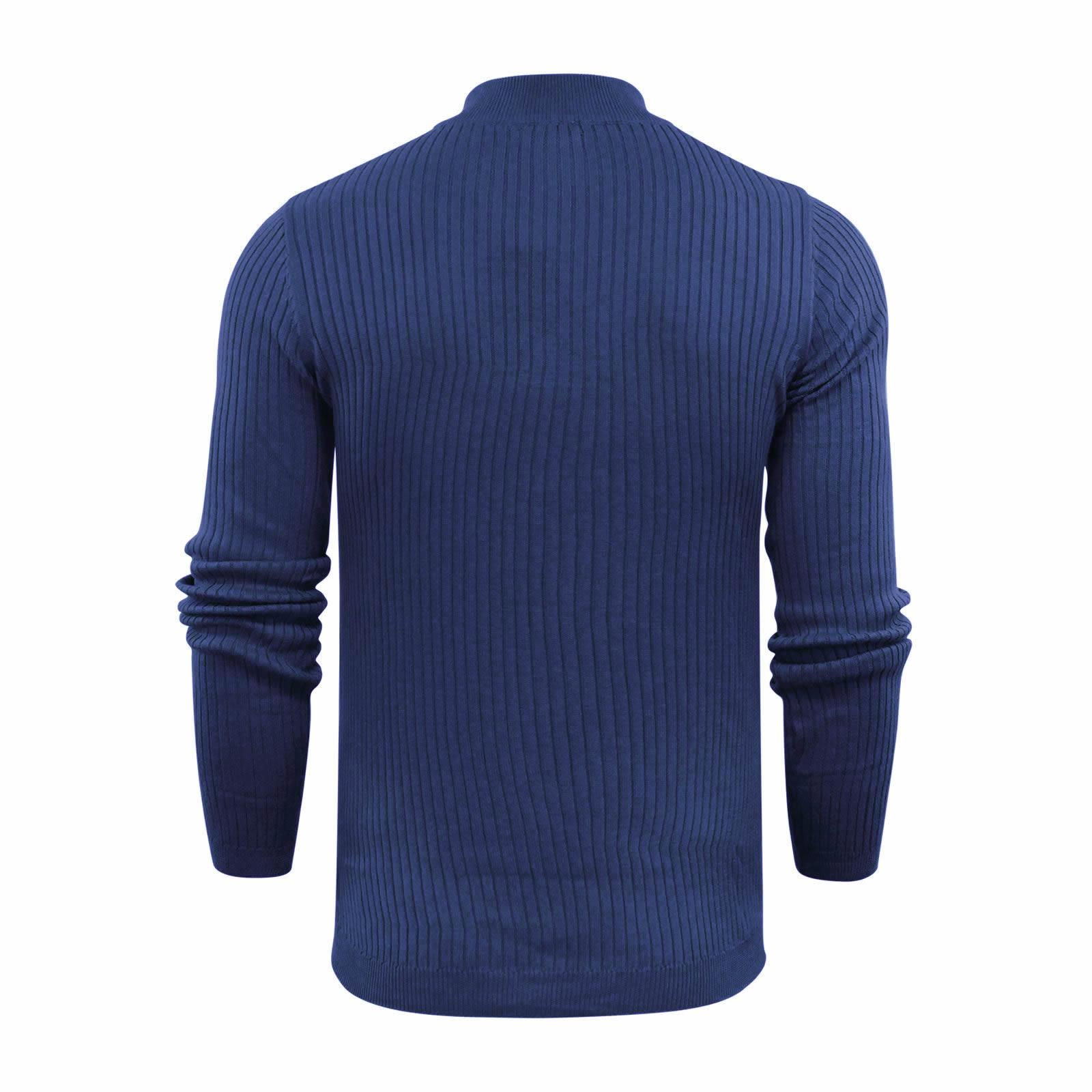 Brave-Soul-Mutant-Pull-Homme-Cotele-Col-Roule-Tricot-Pull miniature 13